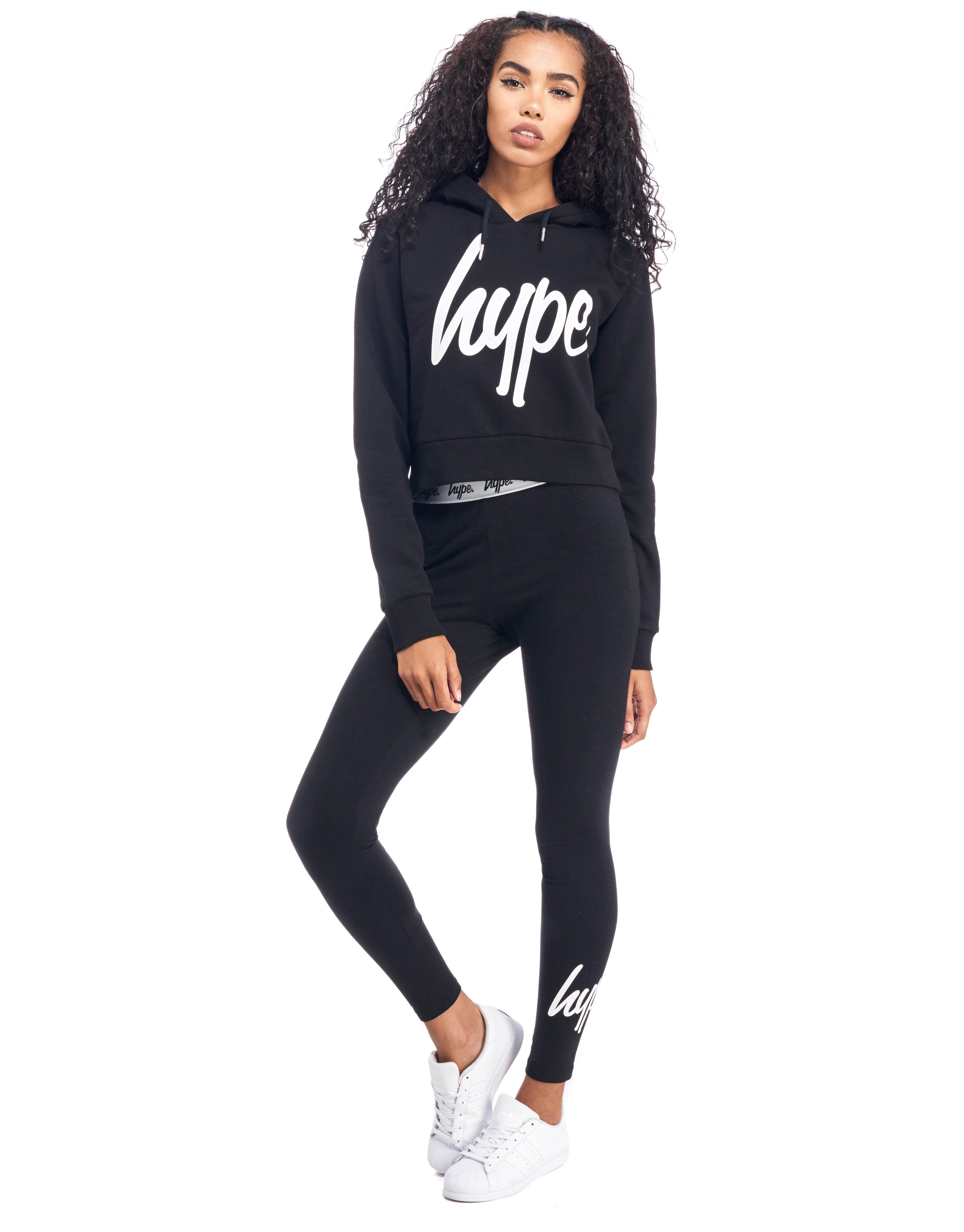 Hype Script Crop Hoody