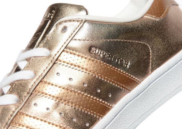 adidas originals superstar perforated women's rose gold