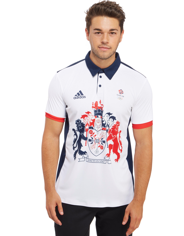 Adidas Team Gb 2016 Climachill Polo Shirt Jd Sports