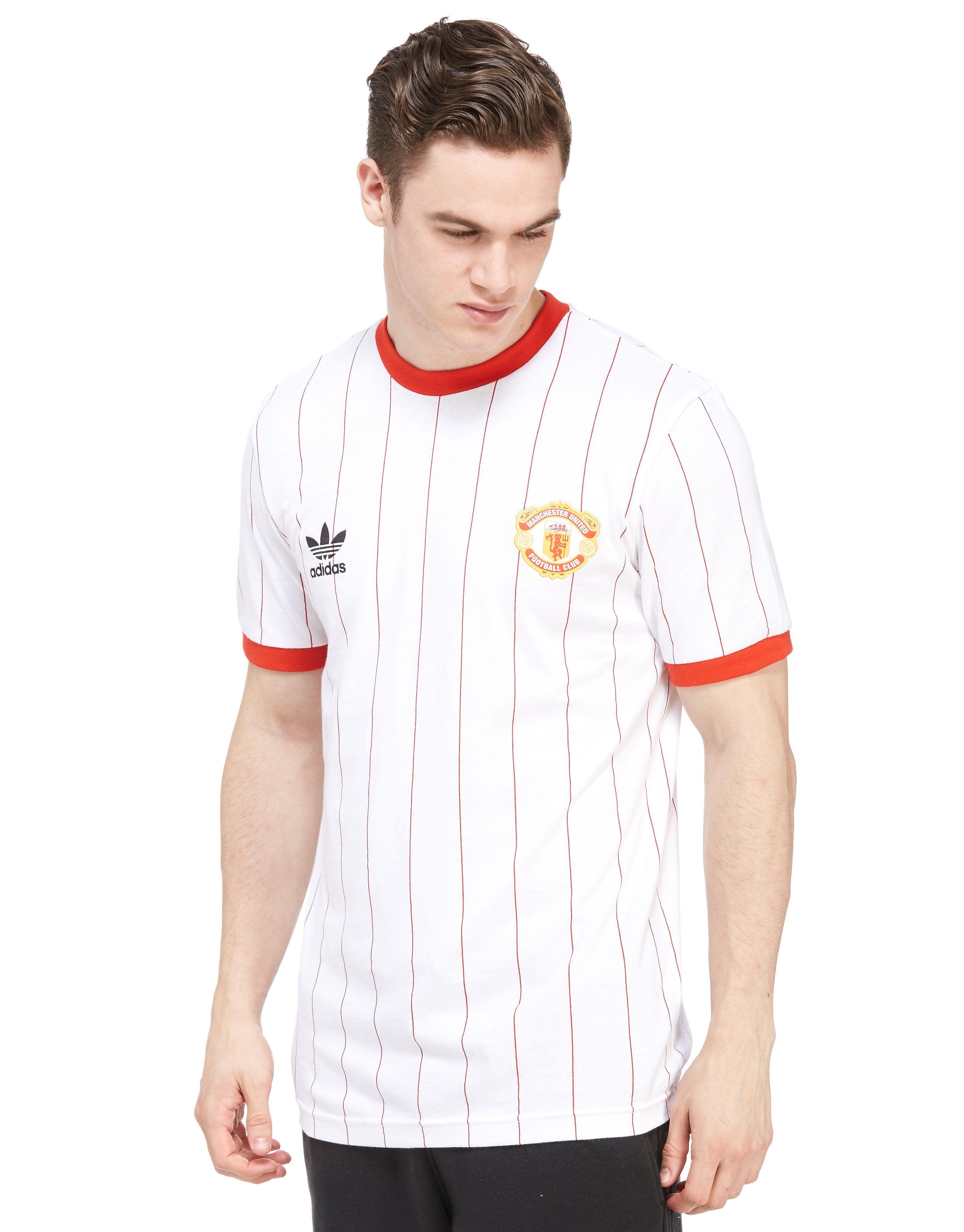 adidas Originals Manchester United FC Pinstripe T-Shirt  d265c1bb5
