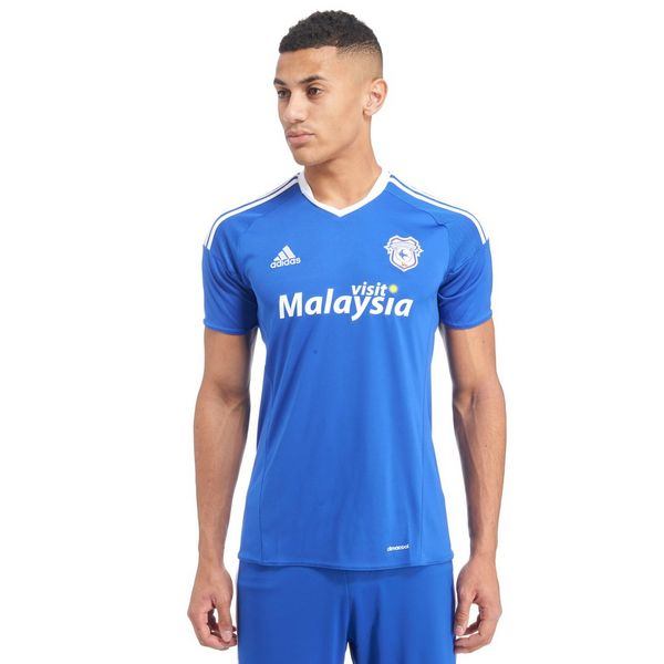 adidas Cardiff City FC 2016/17 Home Shirt ...