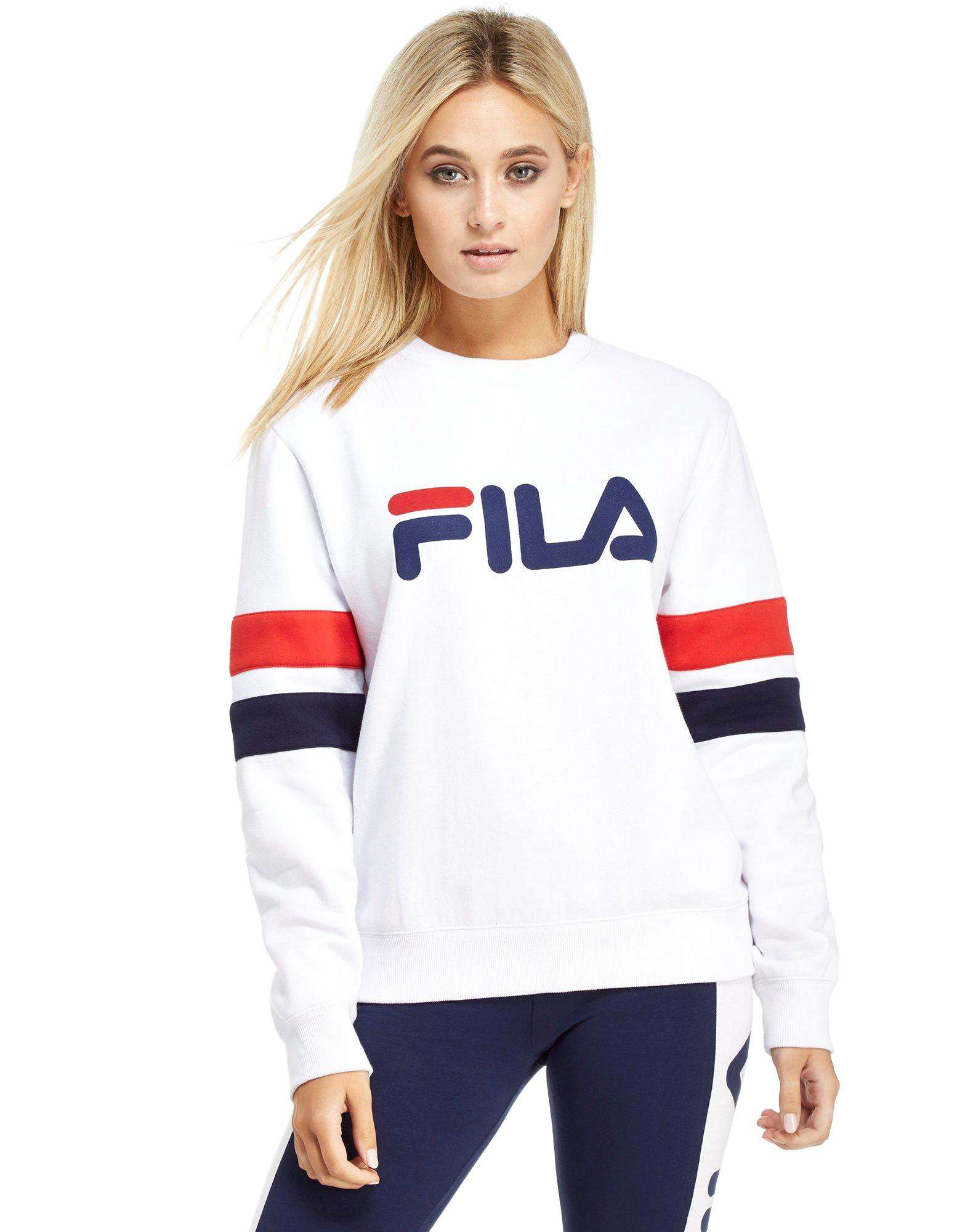 sweat shirt femme fila fila sweat shirt color block decontracte avec logo sur le devant bleu femme f. Black Bedroom Furniture Sets. Home Design Ideas