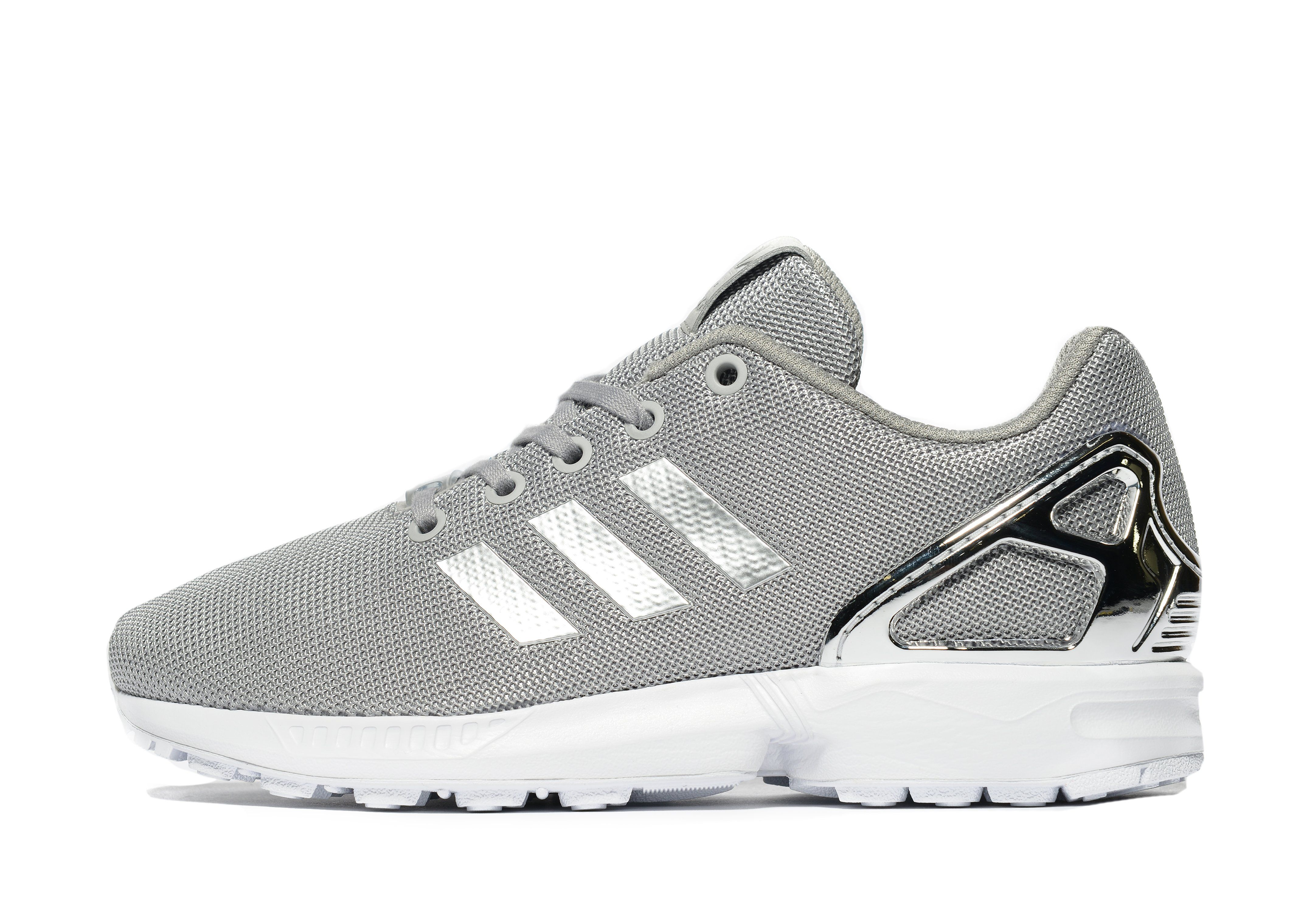 new product 33717 683ae shopping zx flux grey and silver 7b381 36264