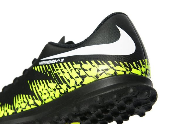 Nike Dark Lightning Hypervenom Phade II Turf Junior Black
