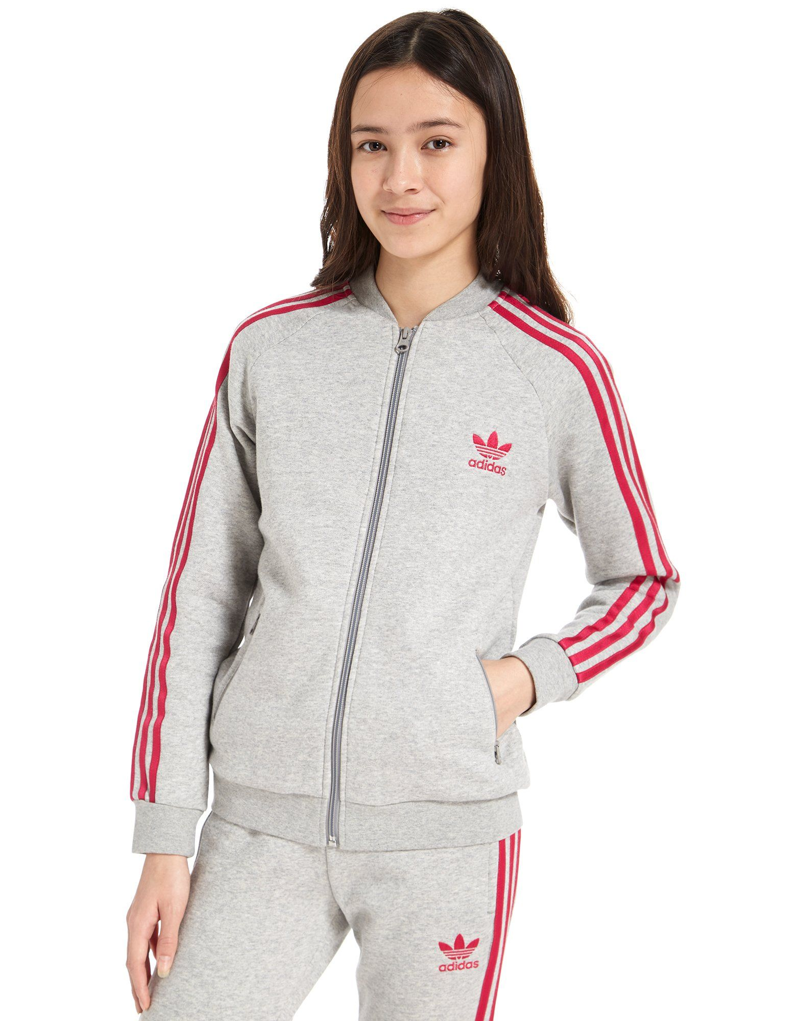 adidas Originals Girls' Superstar Fleece Track Top Junior