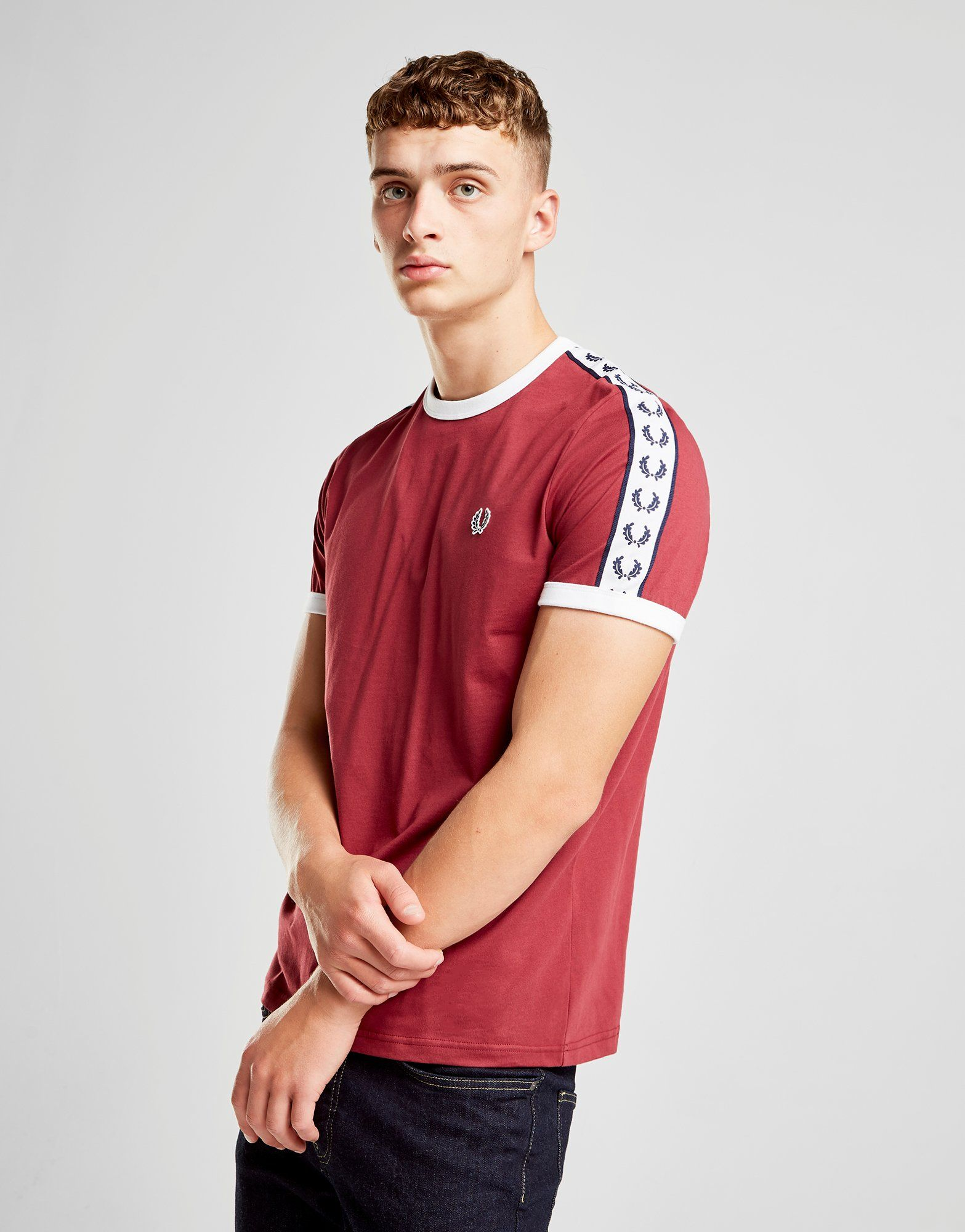Fred Perry Taped Retro Ringer T-Shirt ...