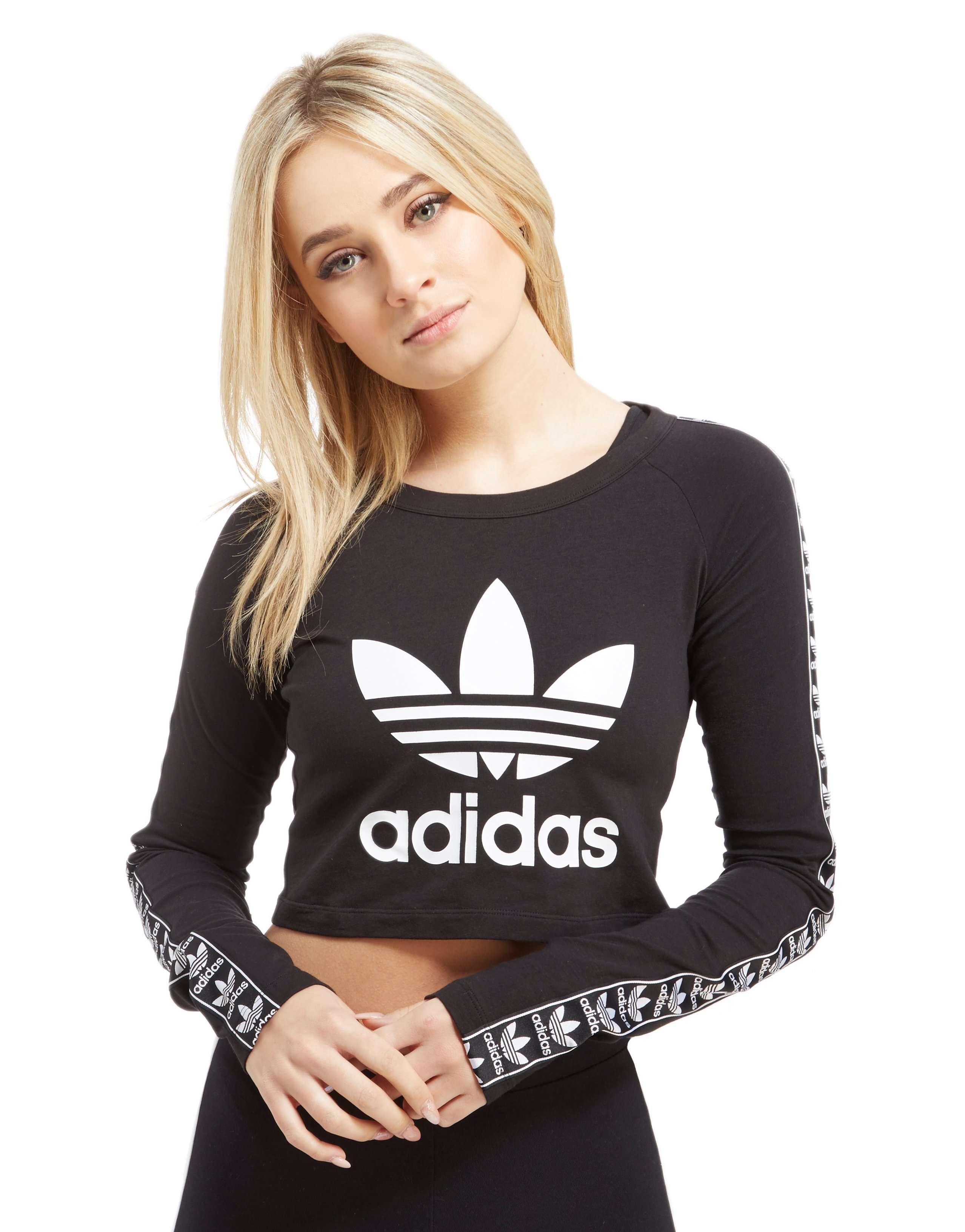 adidas Originals Kurzes Langarmshirt mit Logoband