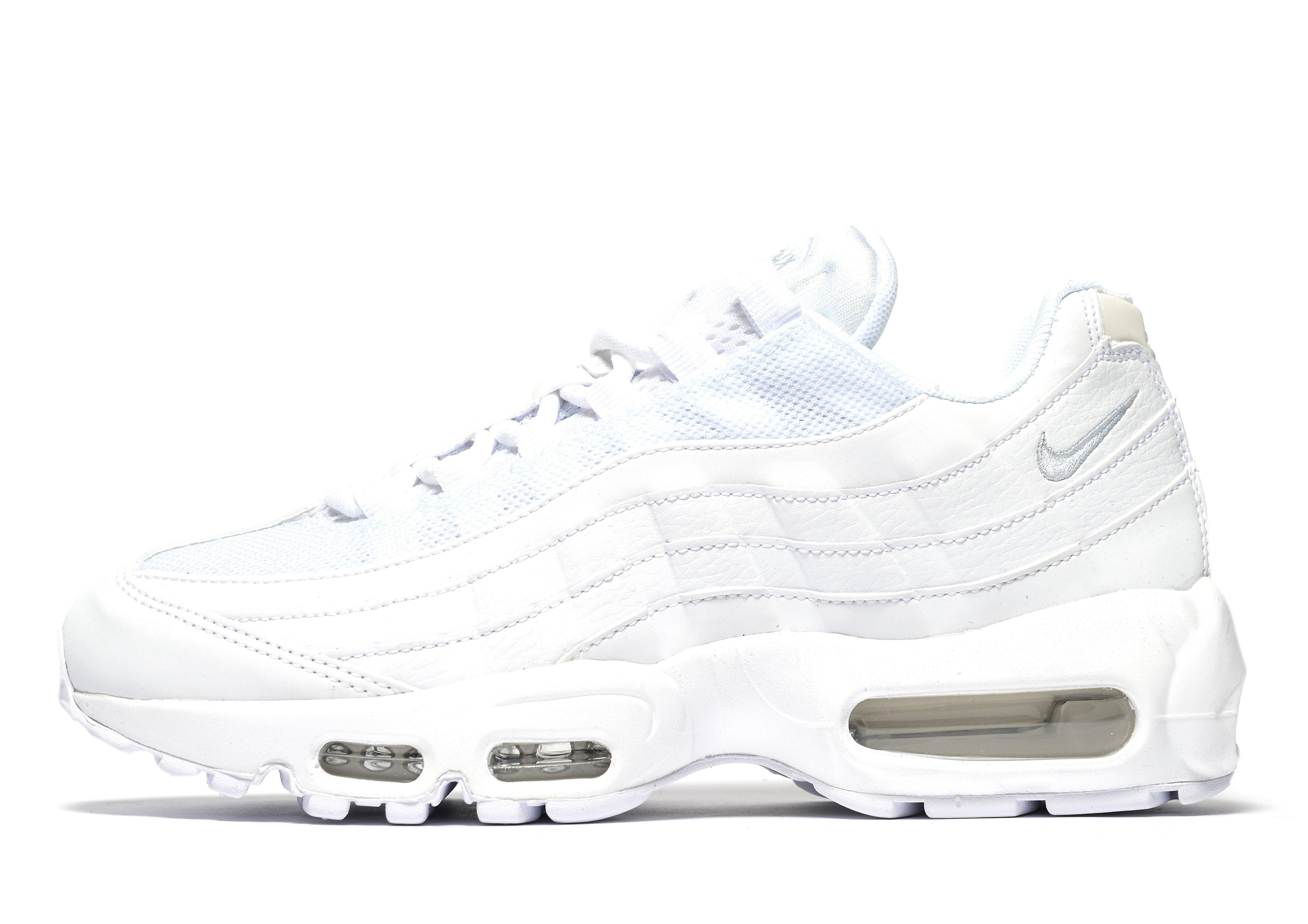 Nike Air Max 95 Toutes Les Chaussures De Tennis De Femmes Blanches