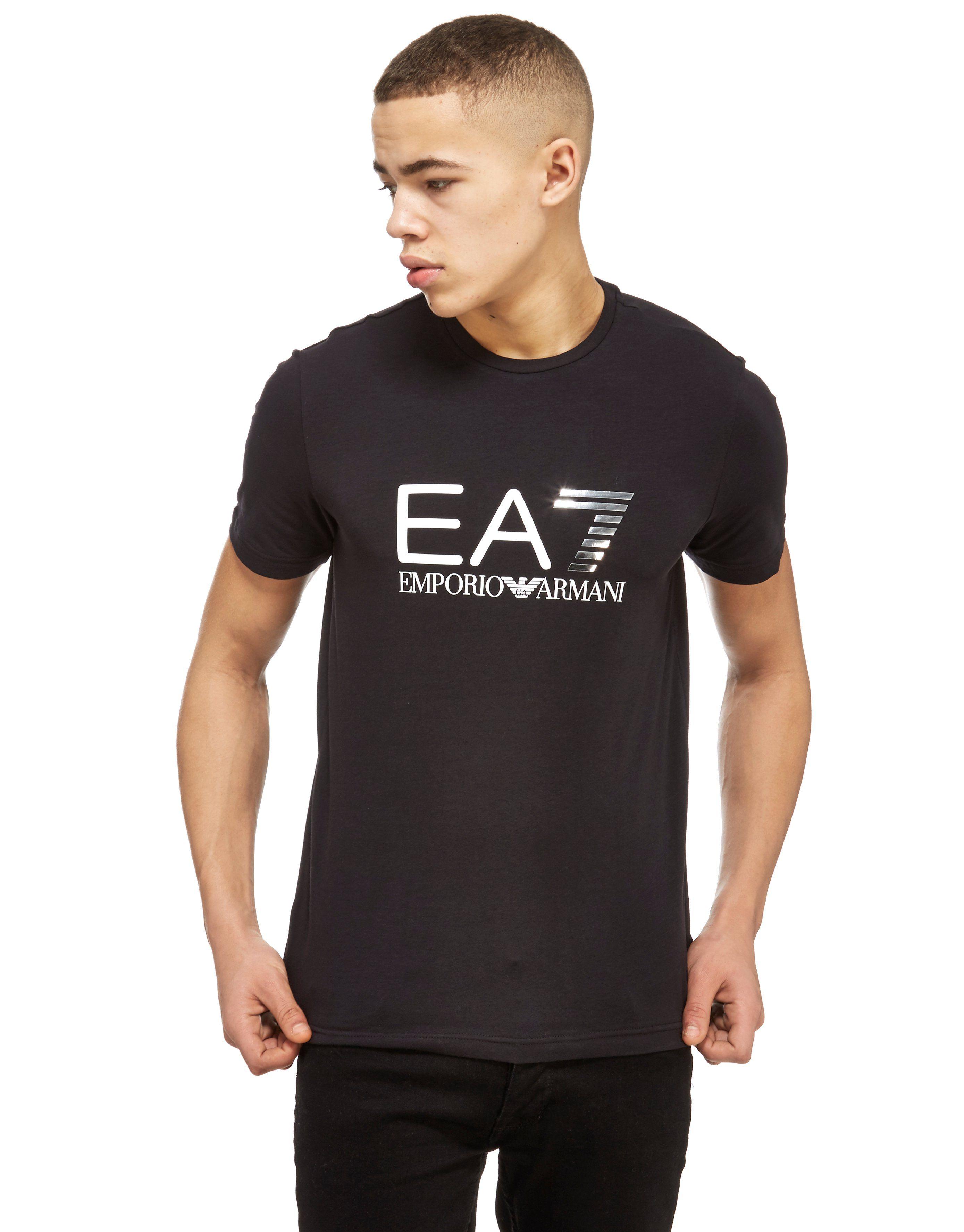 Emporio Armani Ea7 Foil Logo T Shirt Jd Sports