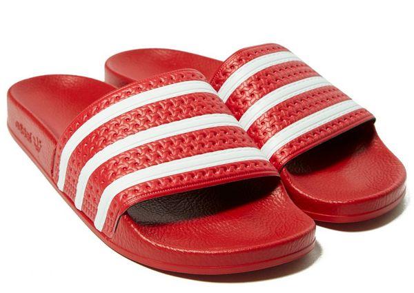 adidas originals slippers rood