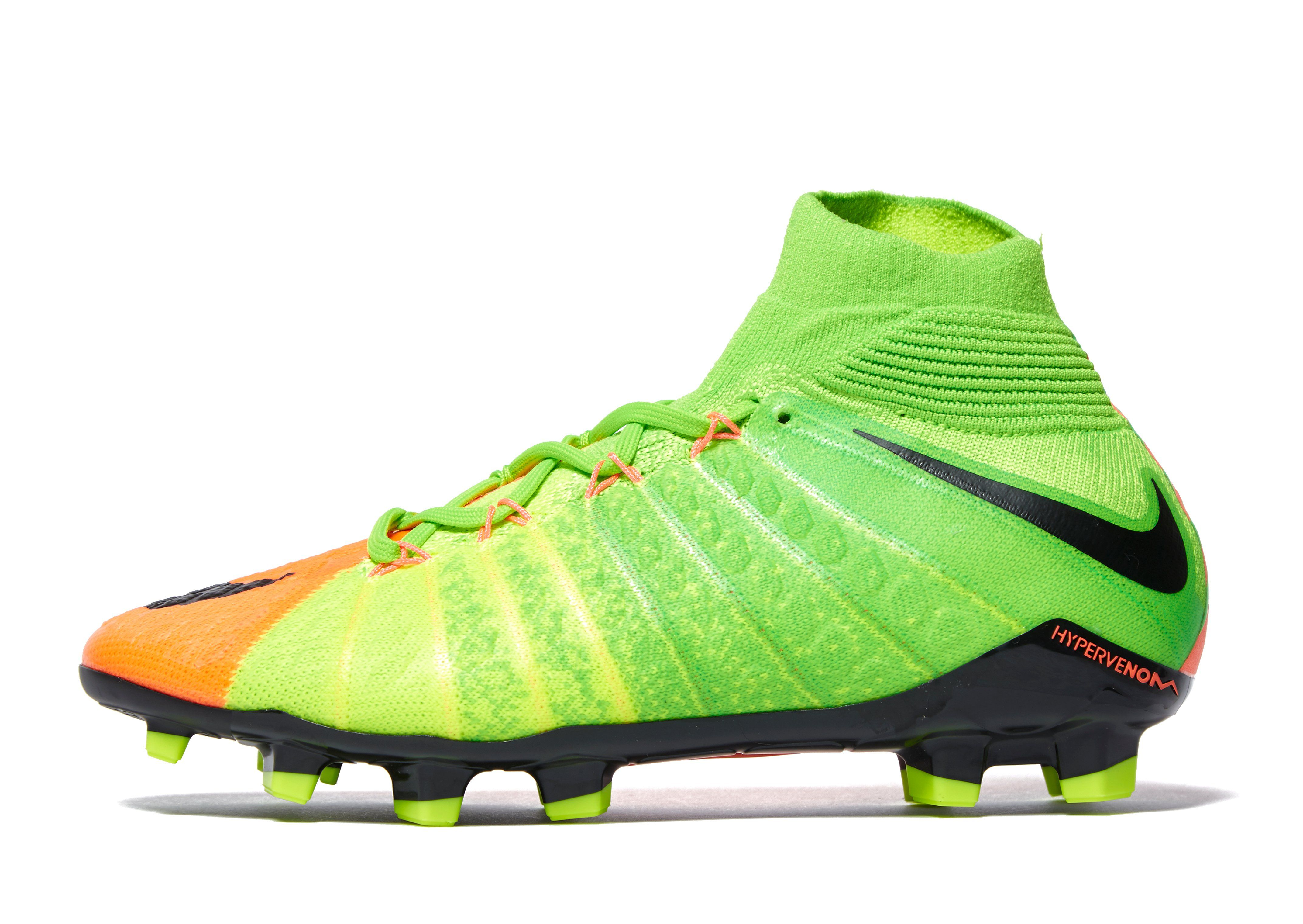Nike Radiation Flare Hypervenom Phantom III FG Junior Green