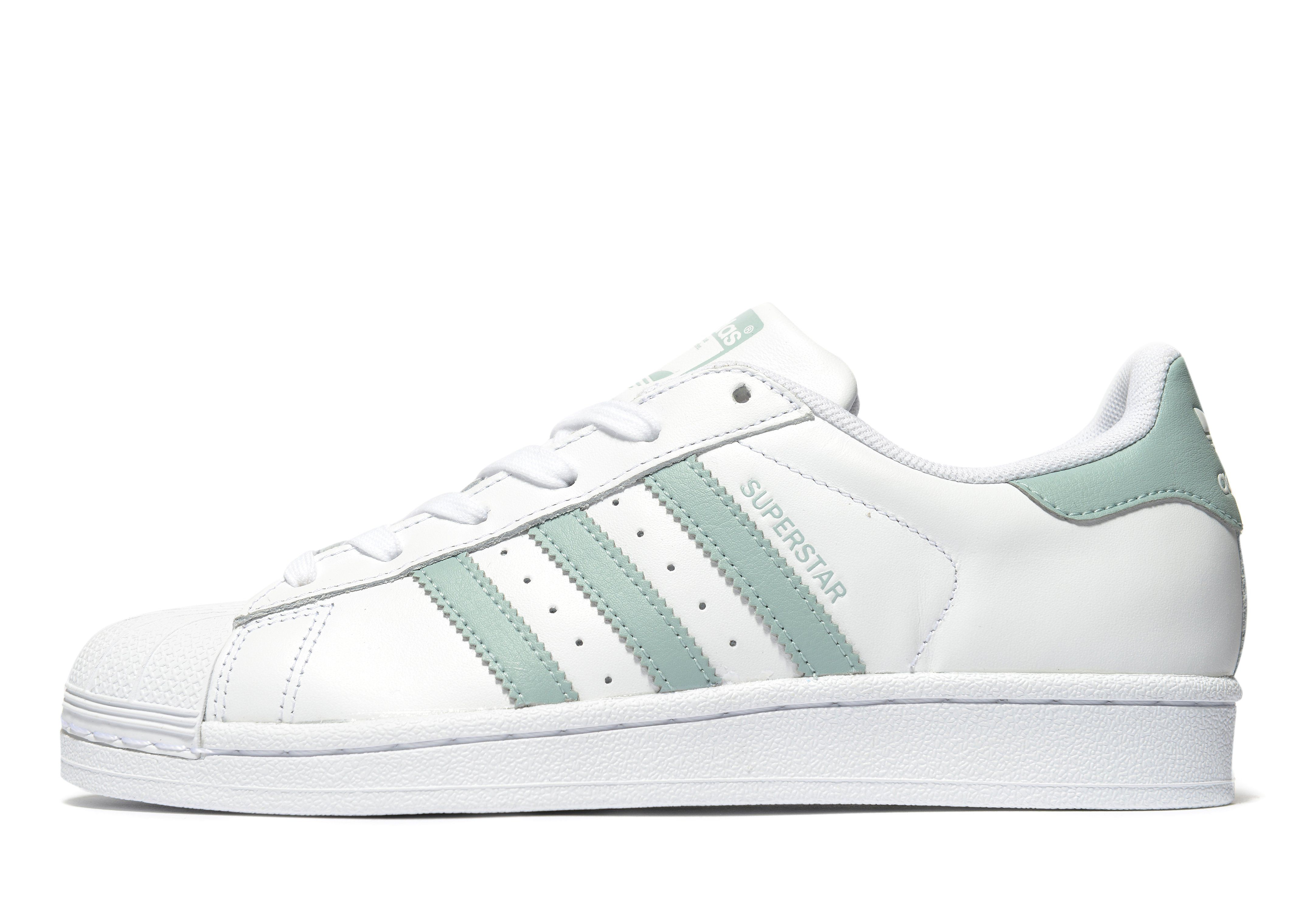 adidas superstar mint groen