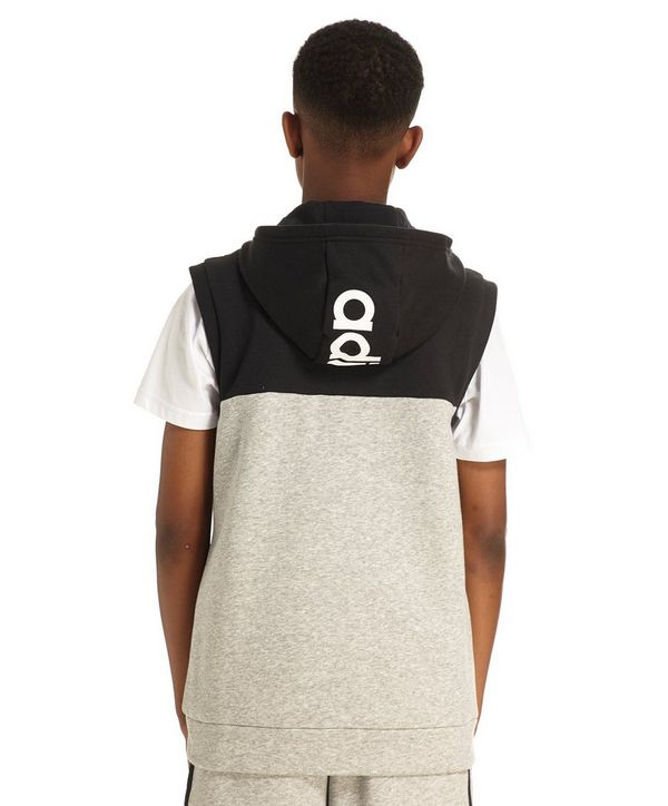 adidas Linear Sleeveless Hoodie Junior
