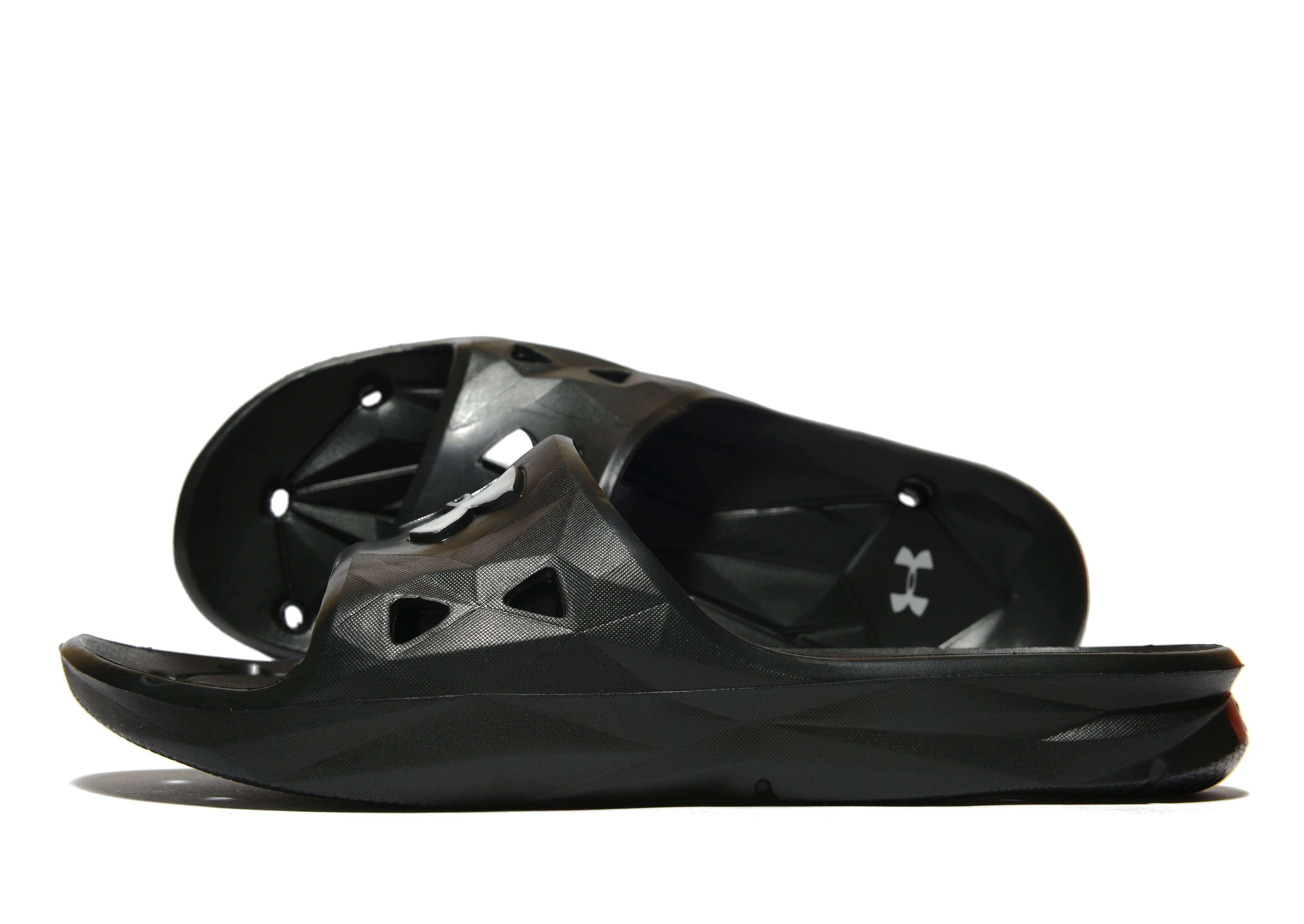 Under Armour Locker III Slides - Men's Flip Flops & Slides - Black 263113