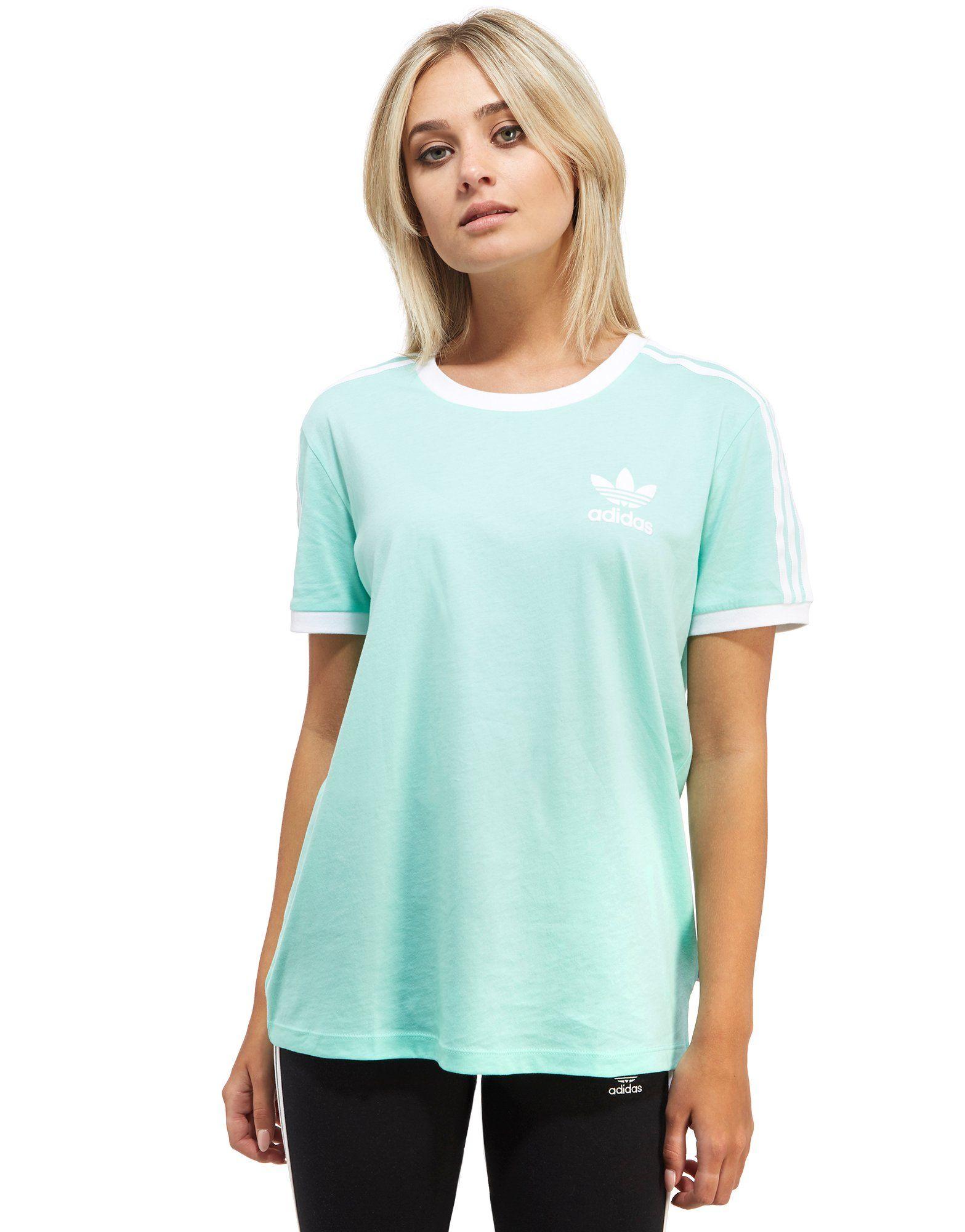 sale 100% genuine the cheapest Adidas California T Shirt Womens Green   Toffee Art