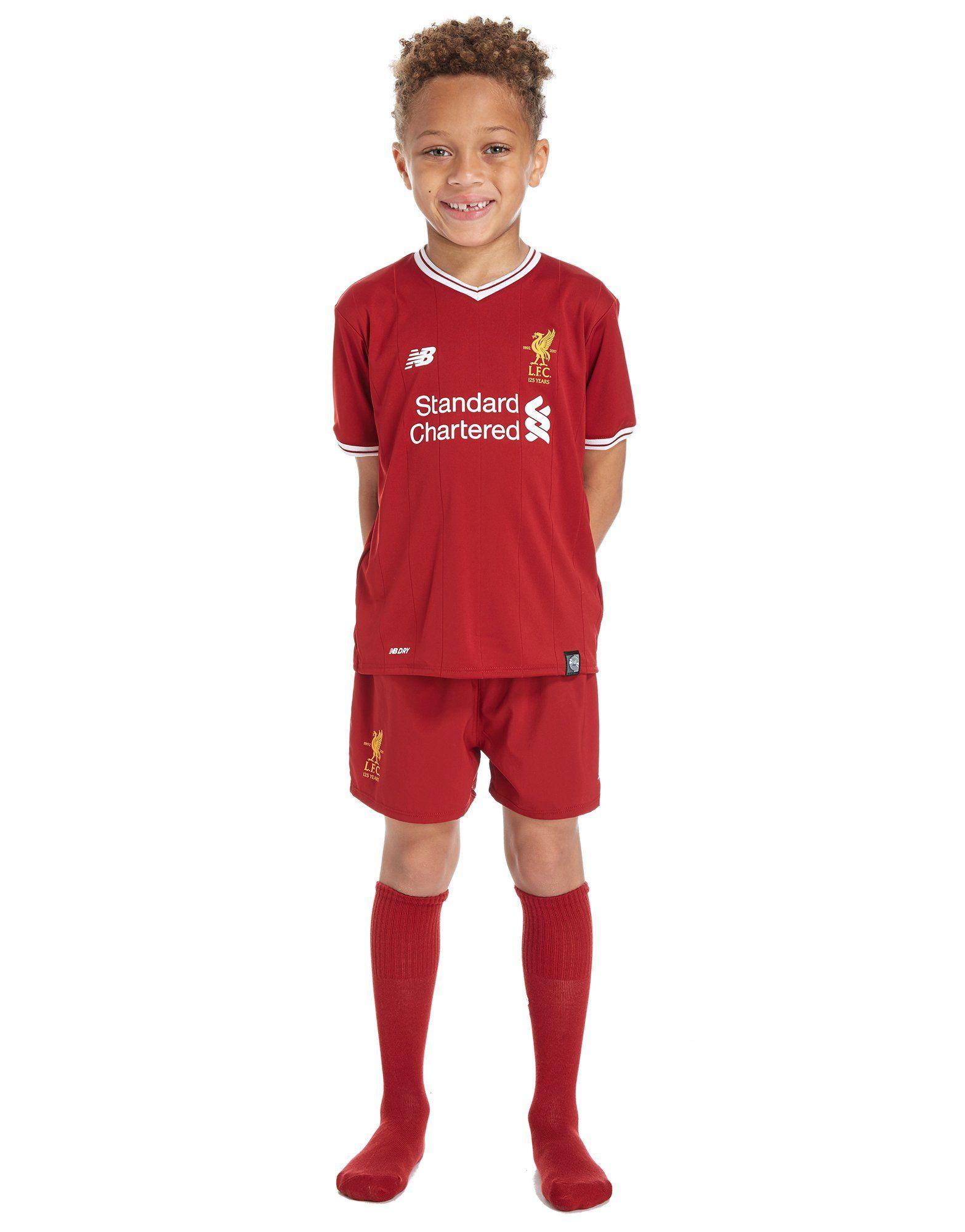1997947860f New Balance Liverpool FC 2017 18 Home Kit Children ...