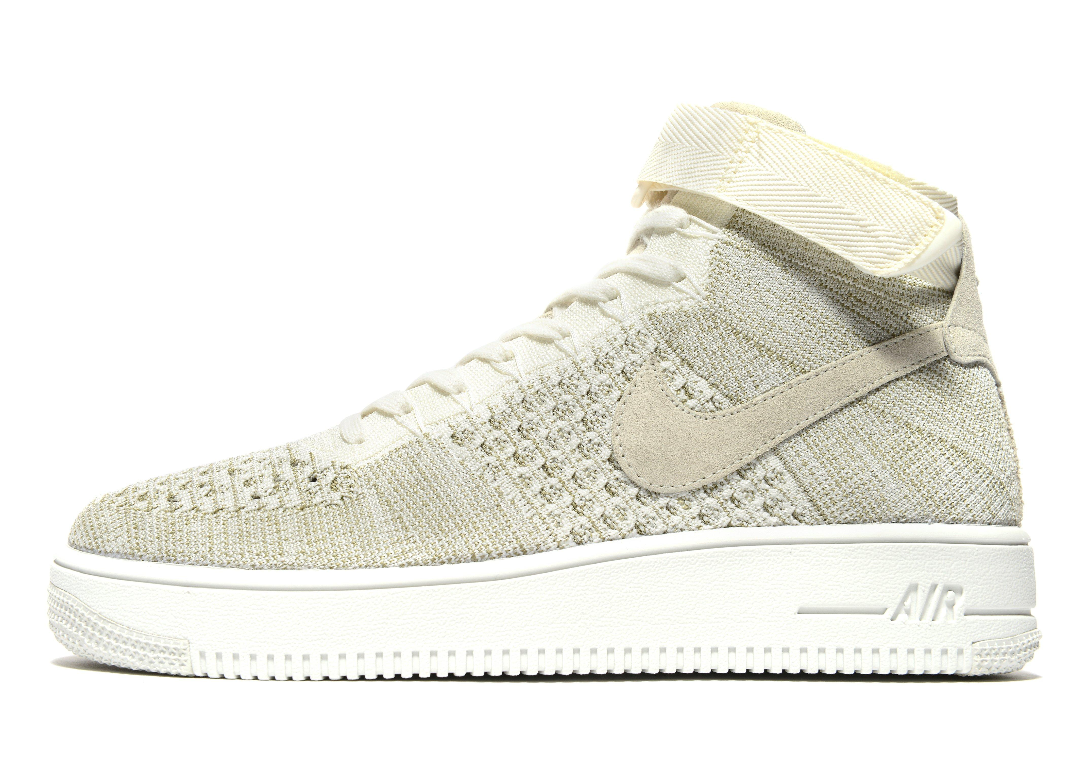 nike air force 1s mid tops fly knit