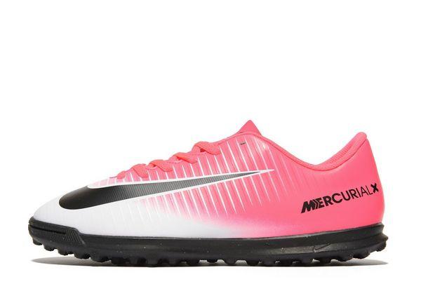 Nike Motion Blur Mercurial Vortex Turf Junior White