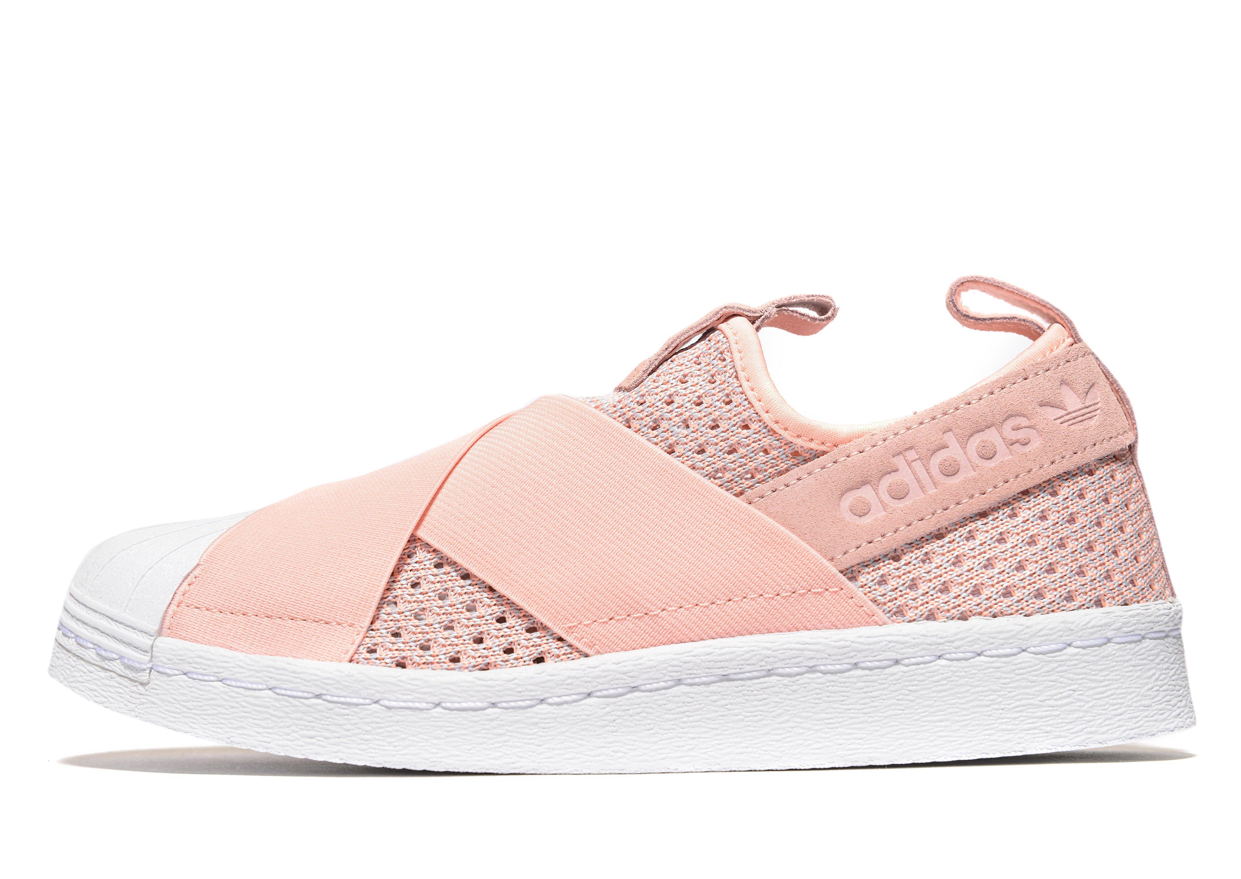 adidas superstar pink slip on