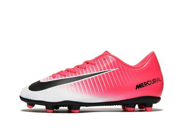Nike Motion Blur Mercurial Victory V FG Children White