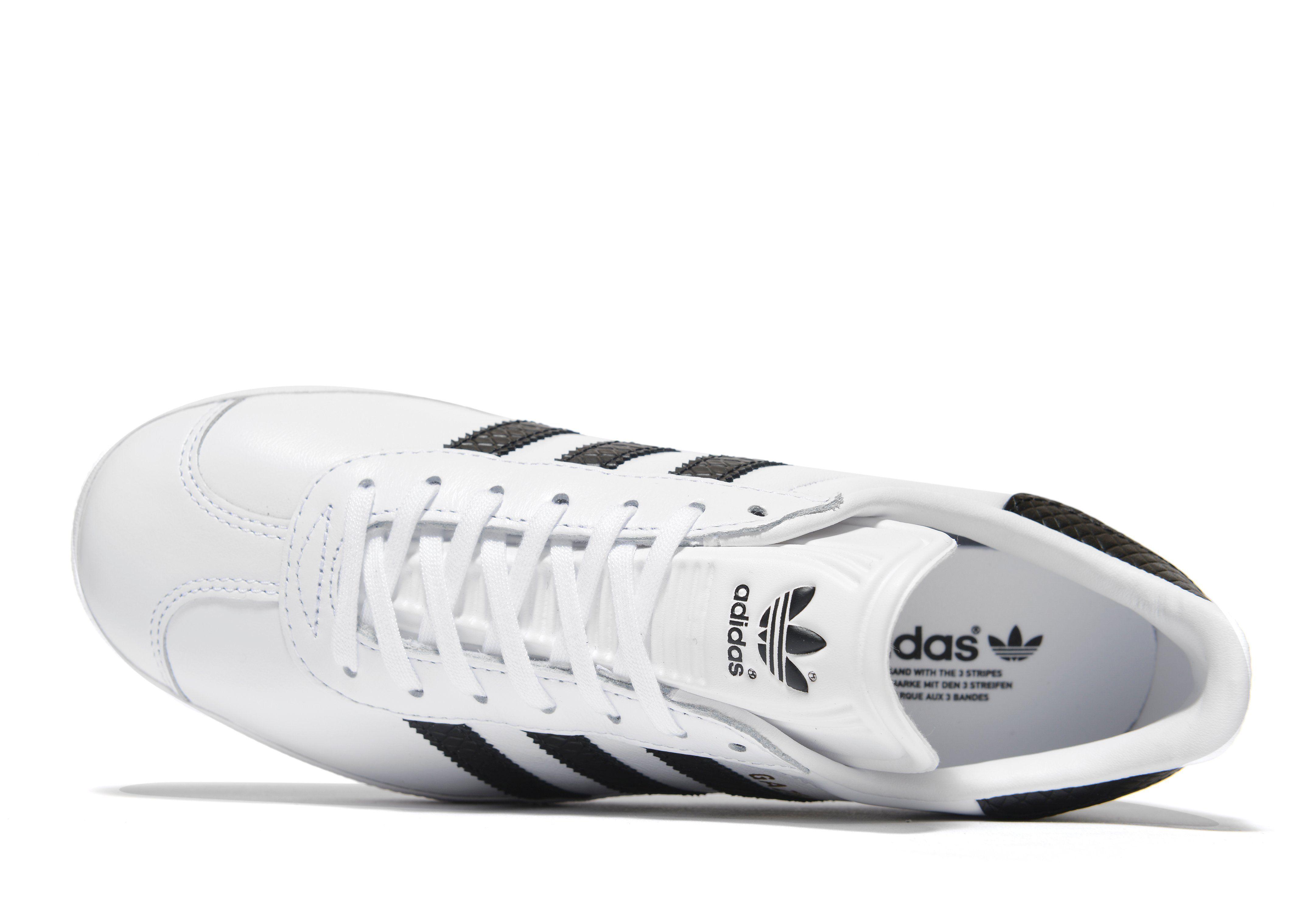 adidas Originals Gazelle Leather Damen Weiss Echt iqtgCSUPq