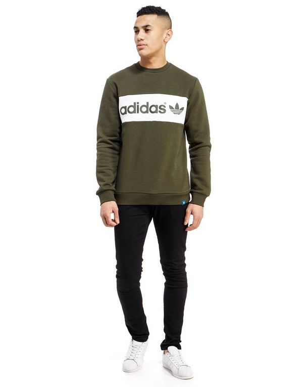 adidas originals colour block crew sweatshirt