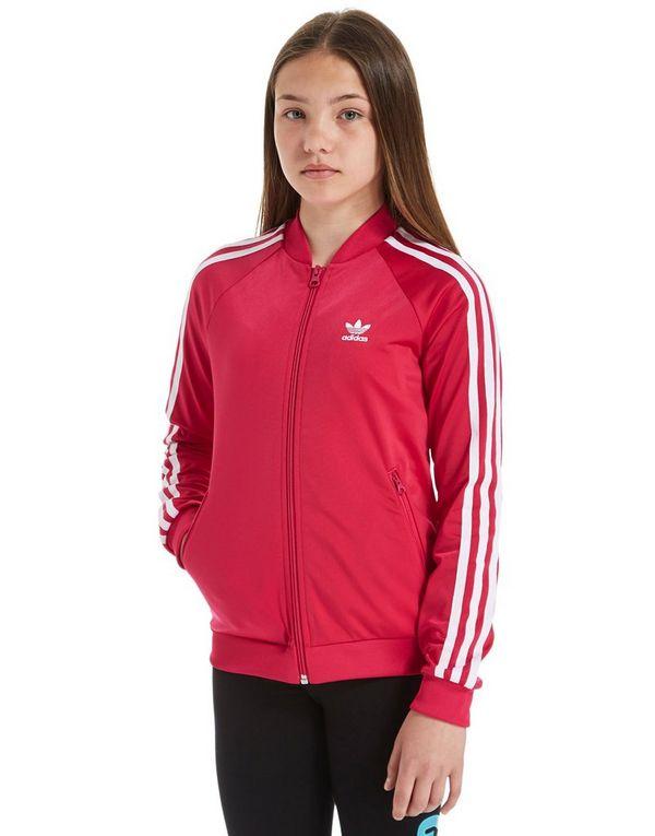 adidas originals superstar track top junior red