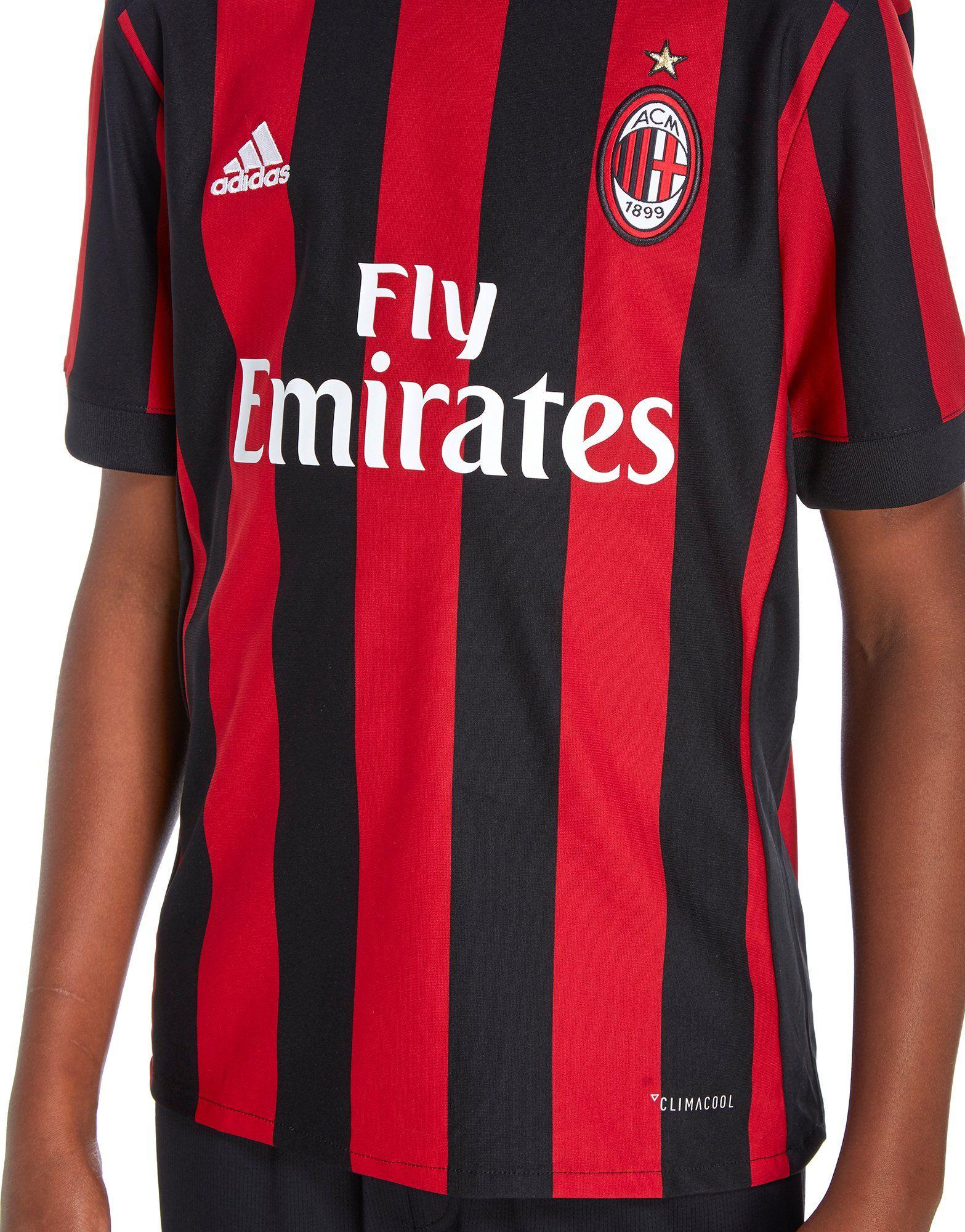 adidas AC Milan 2017/18 Home Shirt Junior