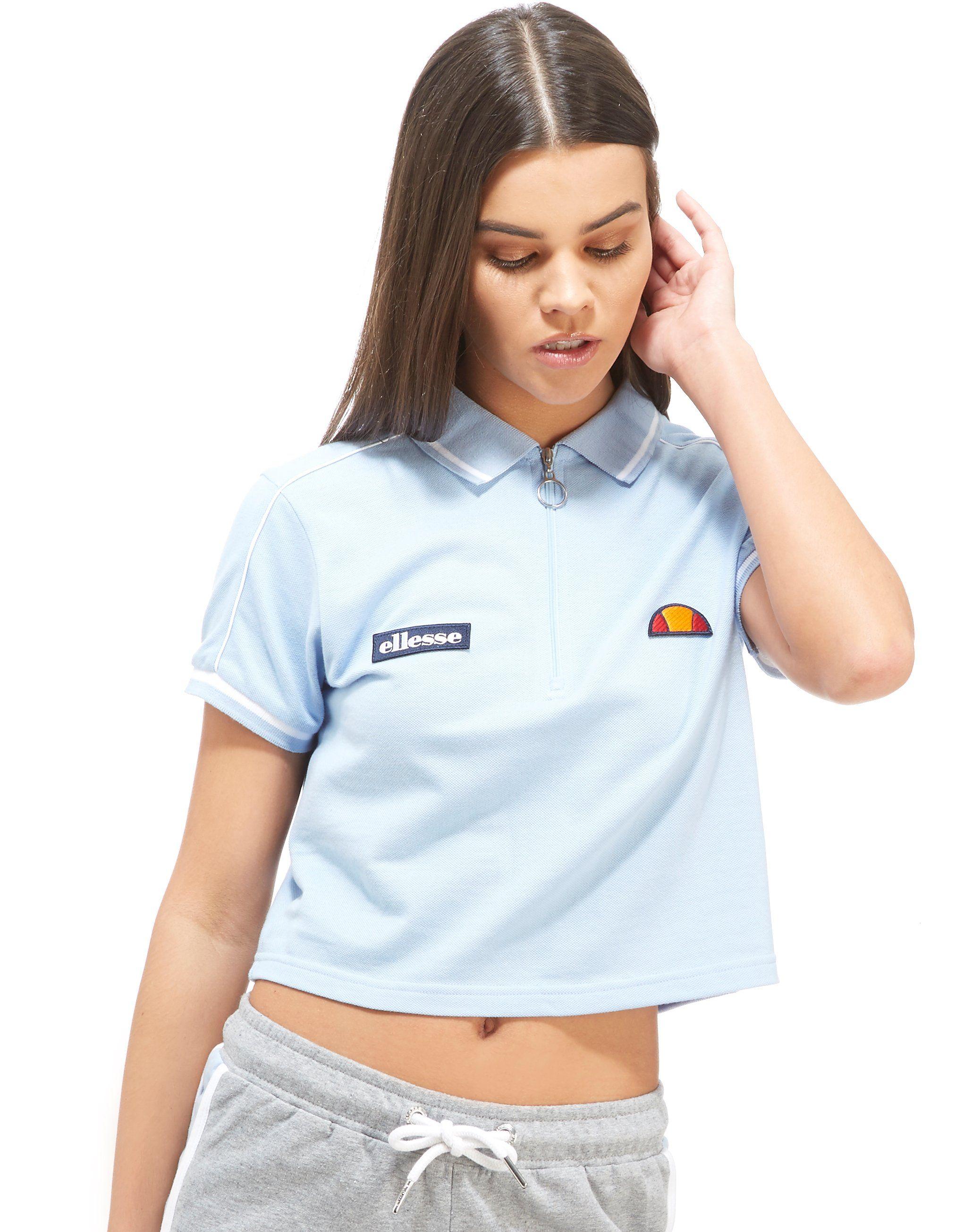 Ellesse t shirt white womens - 1 Review Ellesse Crop Zip Polo Shirt