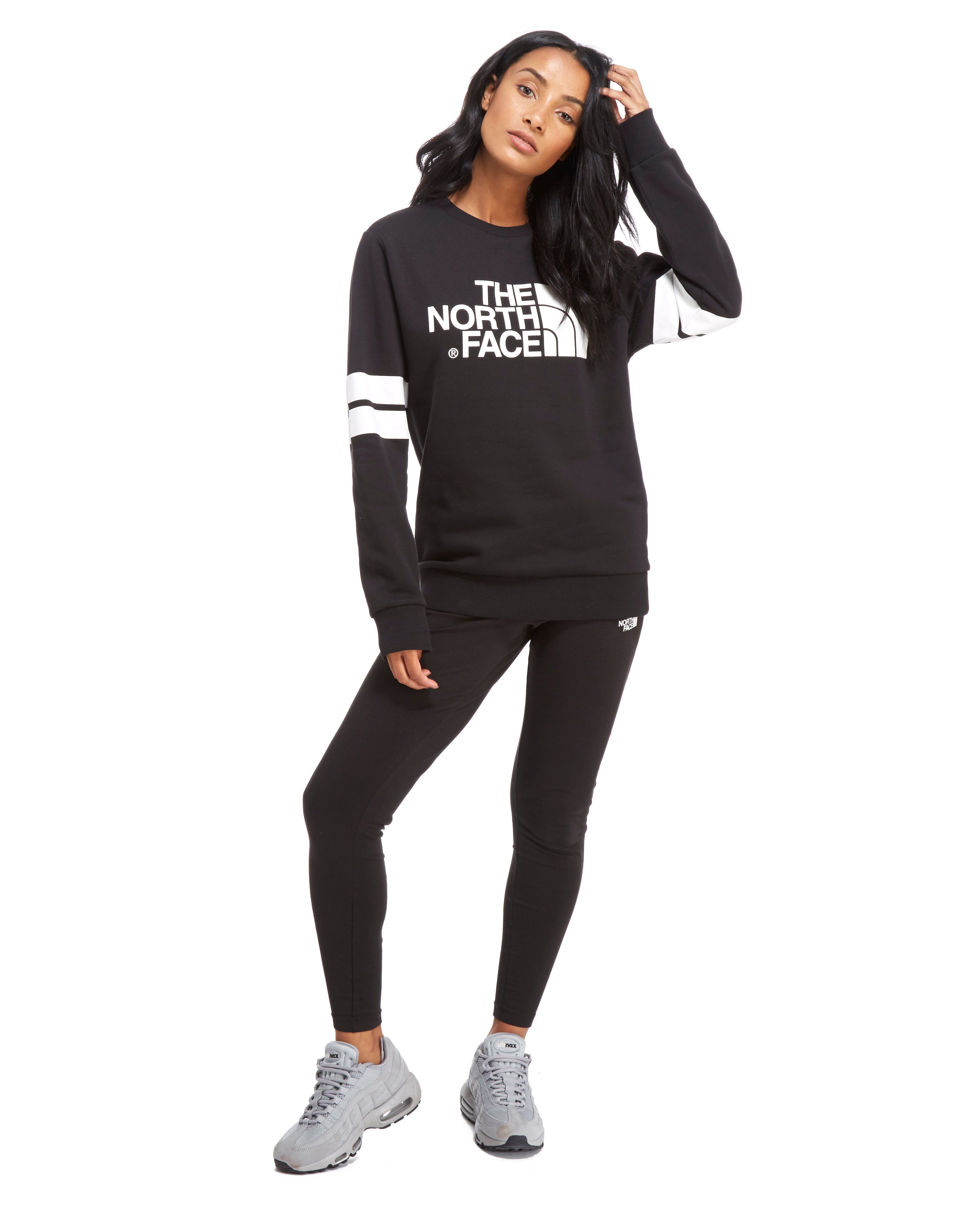 The North Face Stripe Sleeve Crew Sweatshirt