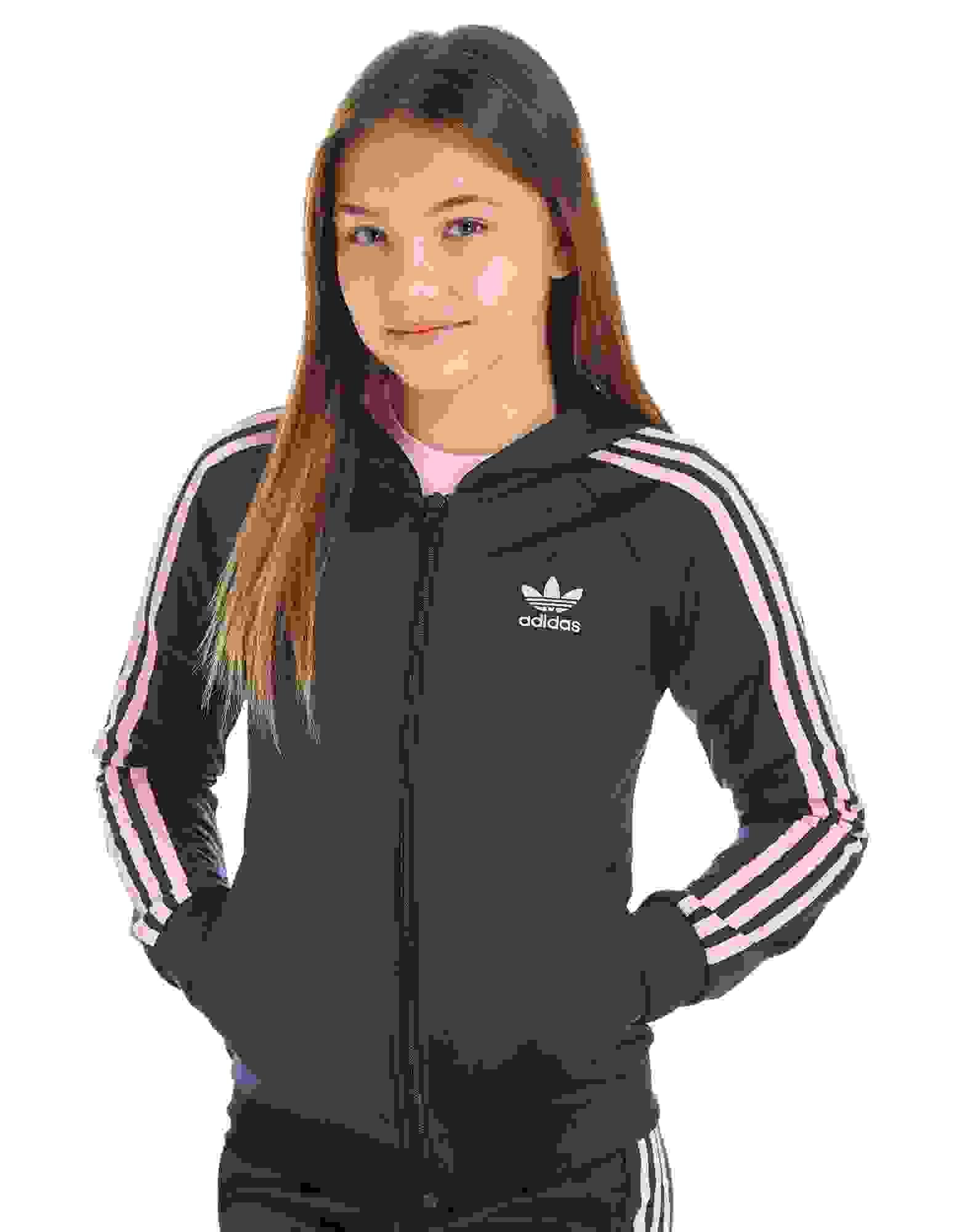 adidas girls. adidas originals girls\u0027 poly full zip hoodie junior girls k