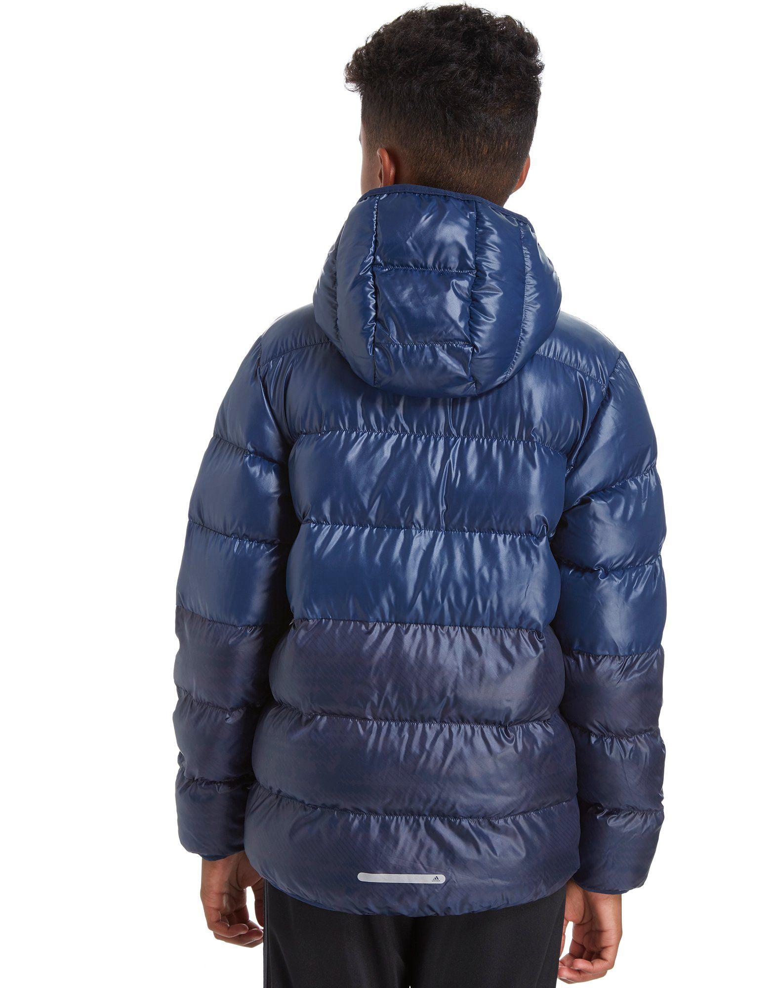 adidas Hooded Bomber Jacket Junior