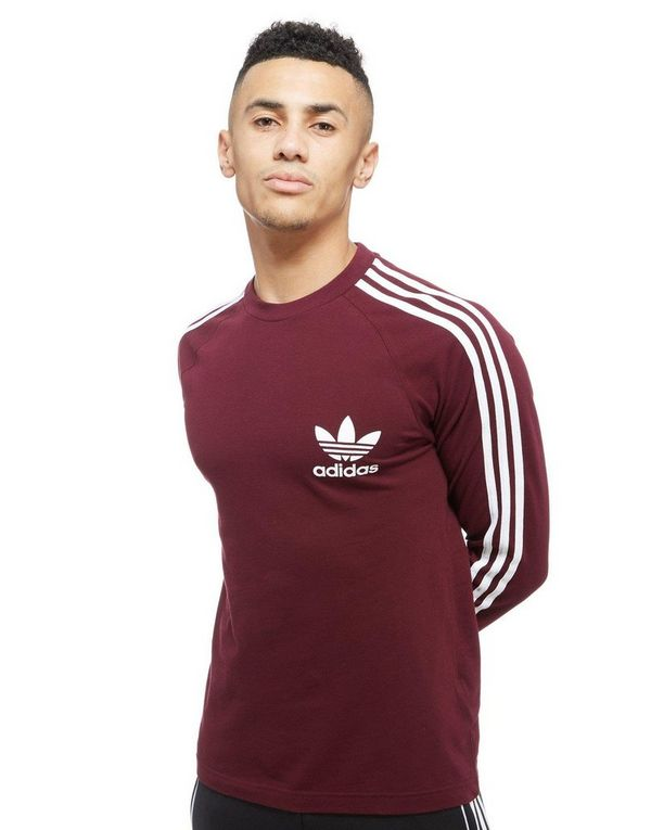 camiseta adidas originals granate