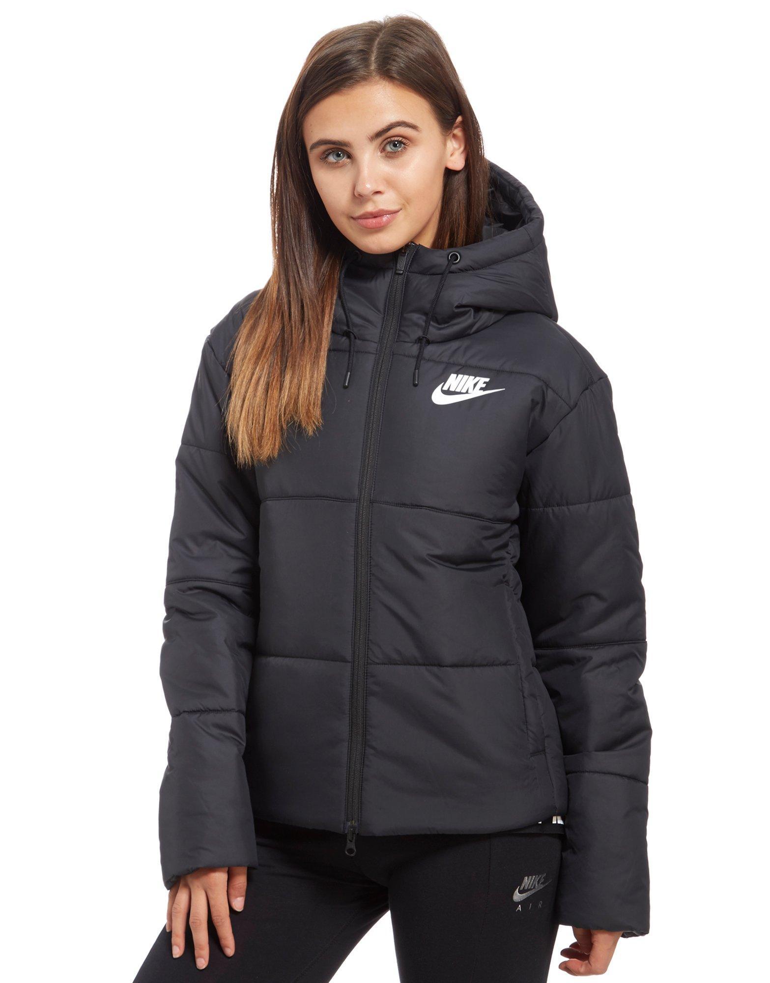 nike womens coat black