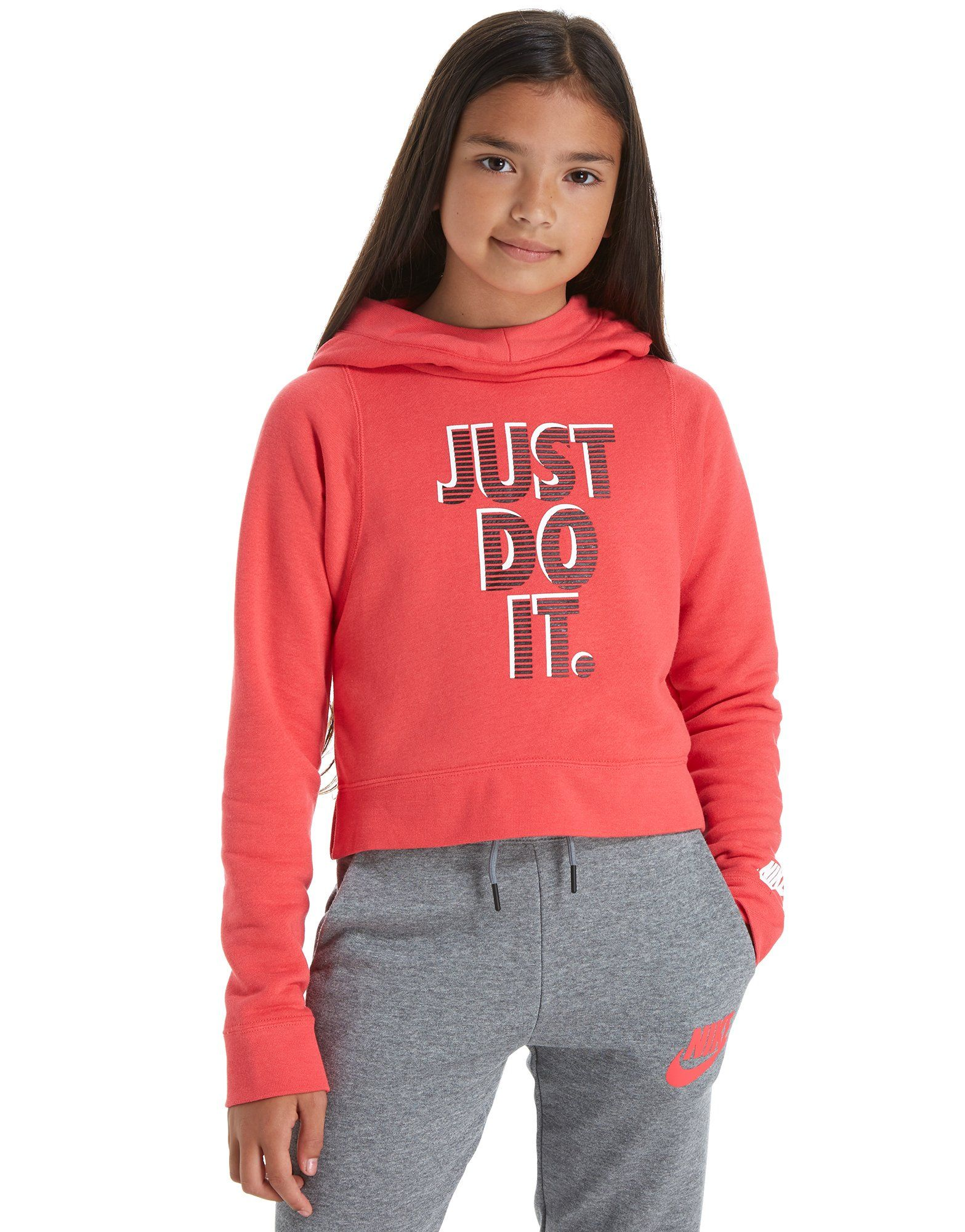 Nike Girls' Just Do It Cropped Hoody Junior