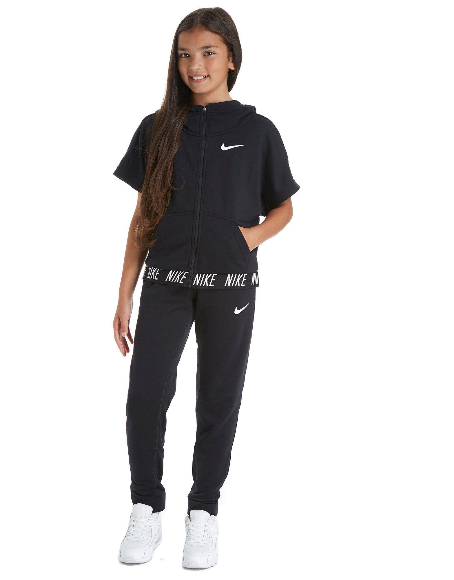 Nike Girls' Short Sleeve Studio Hoodie Junior