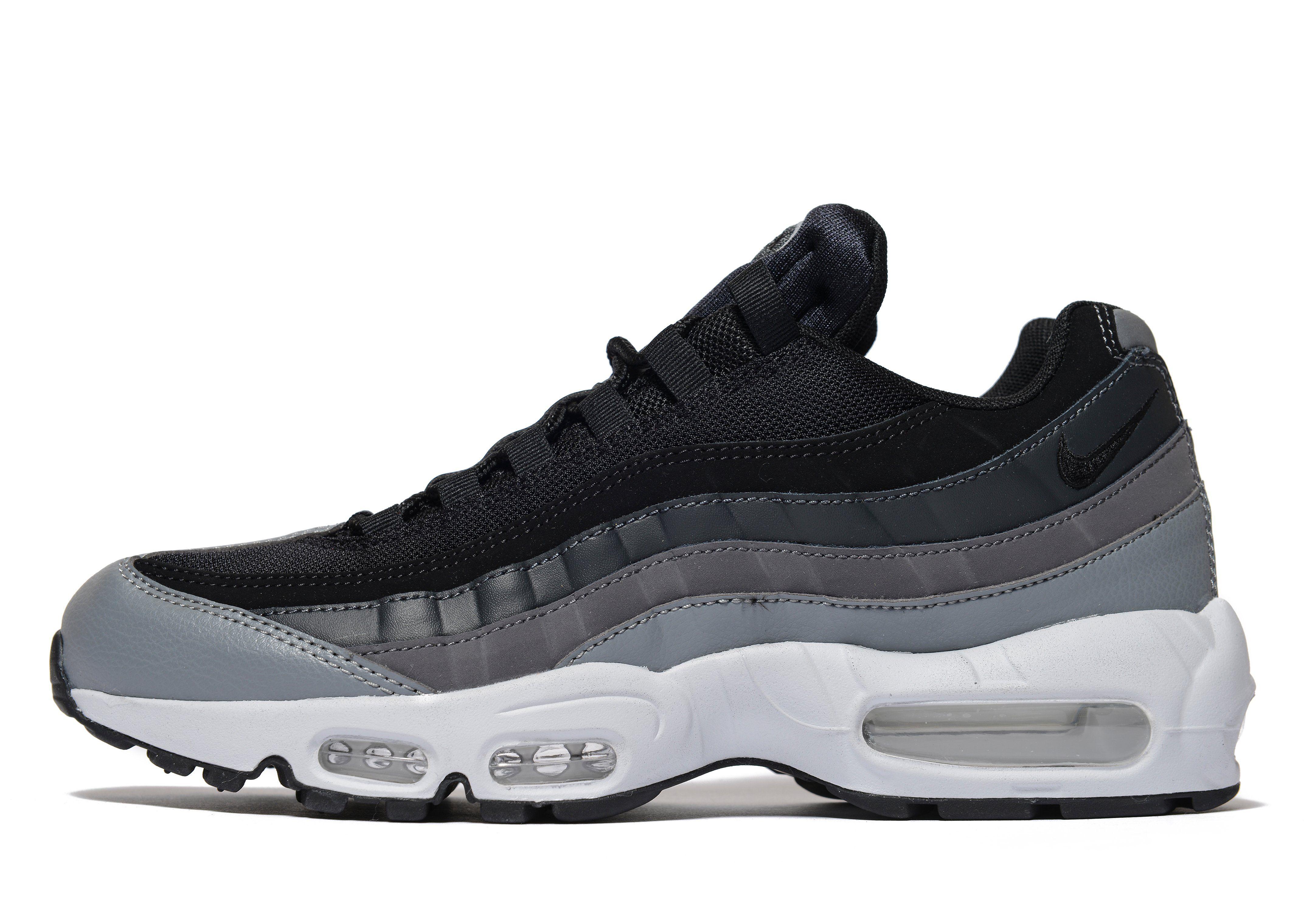 nike air max 95 grey and black