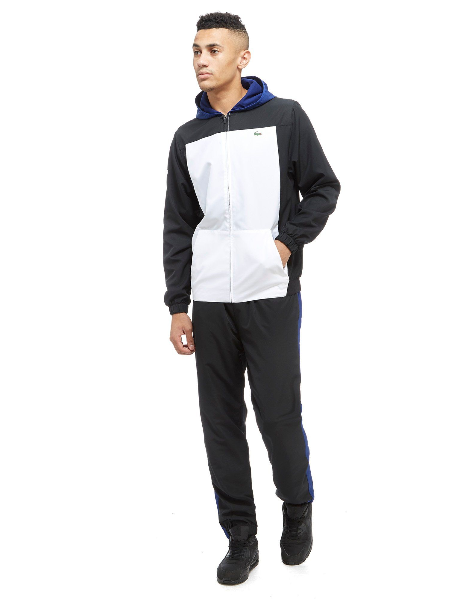 Lacoste Colourblock Panel Hooded Tracksuit
