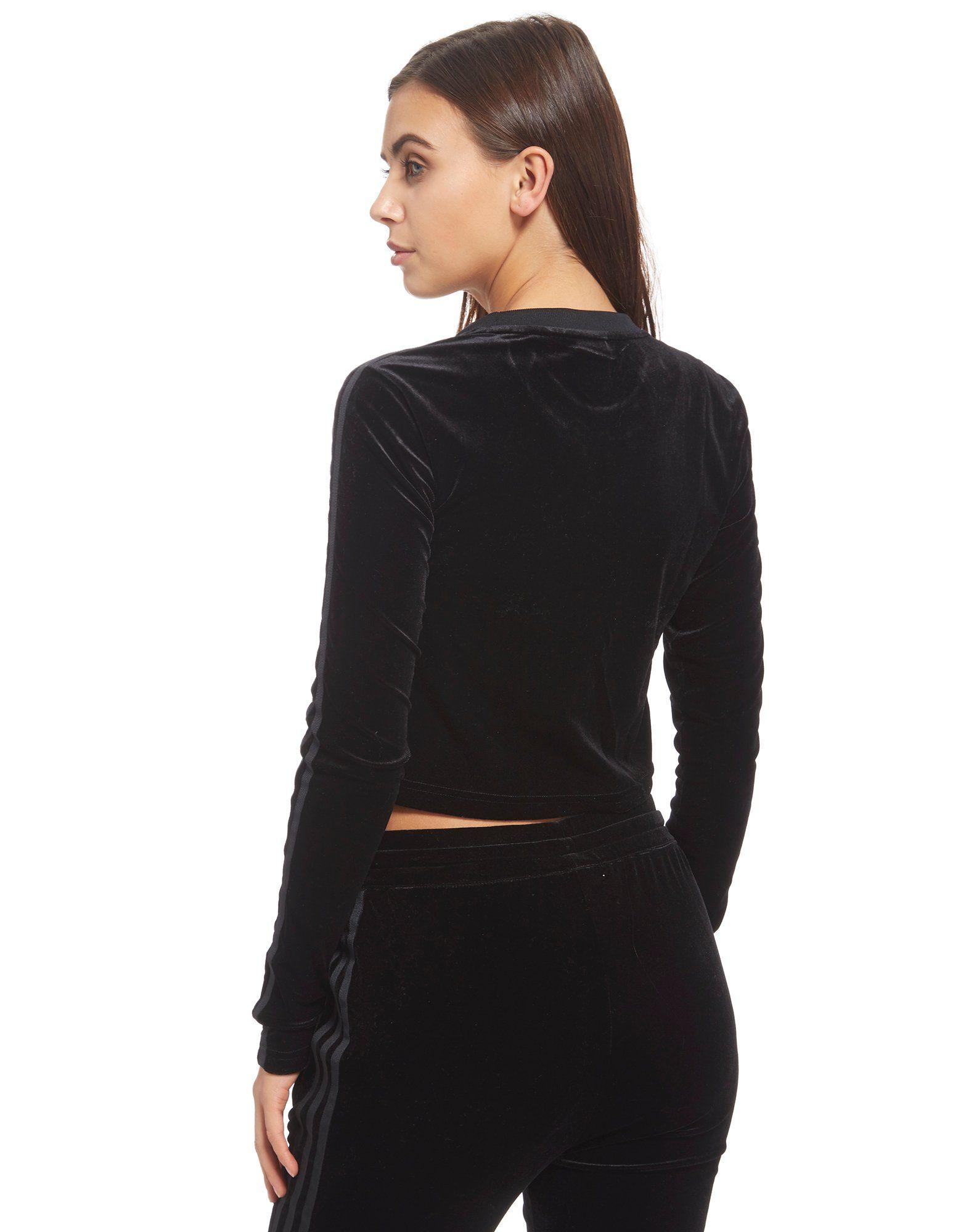 adidas Originals Velvet Vibes Long Sleeve Crop Top