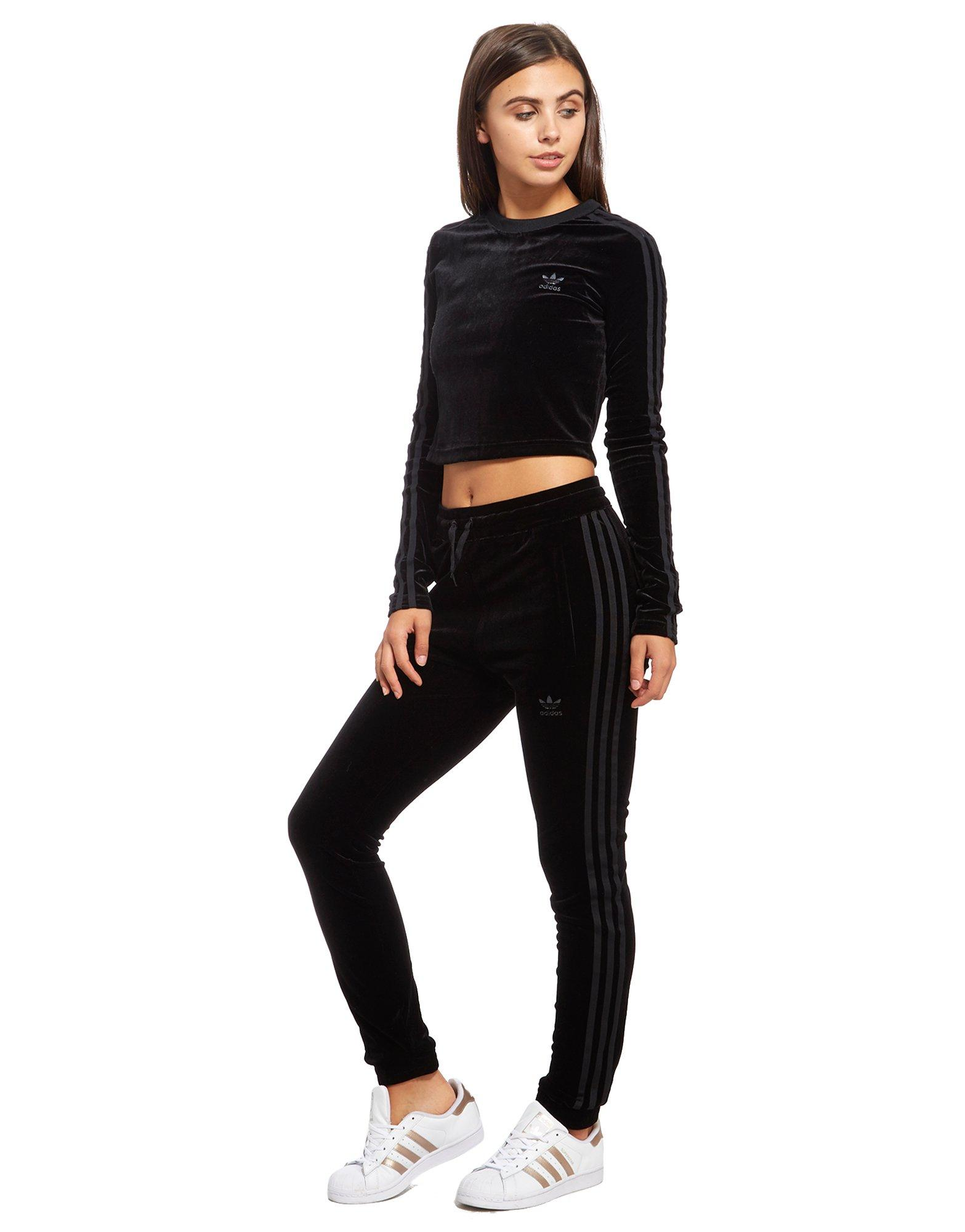 adidas crop top long sleeve