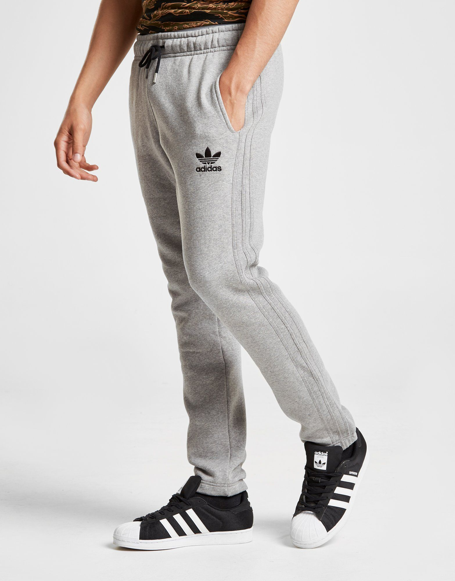 81bc375d Grey Adidas Tracksuit With White Stripes thehampsteadfactory.co.uk