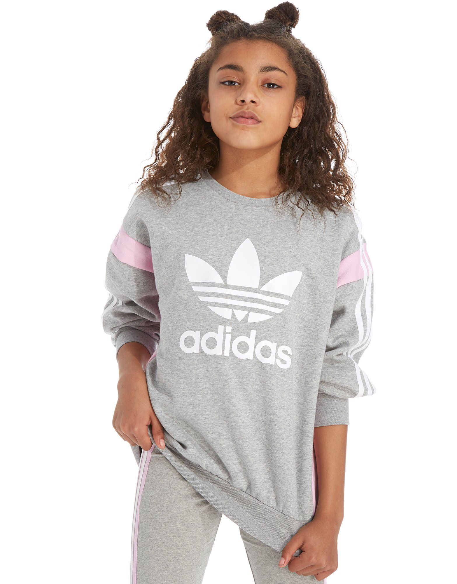 adidas girls. adidas originals girls\u0027 boyfriend fit crew sweatshirt junior girls d