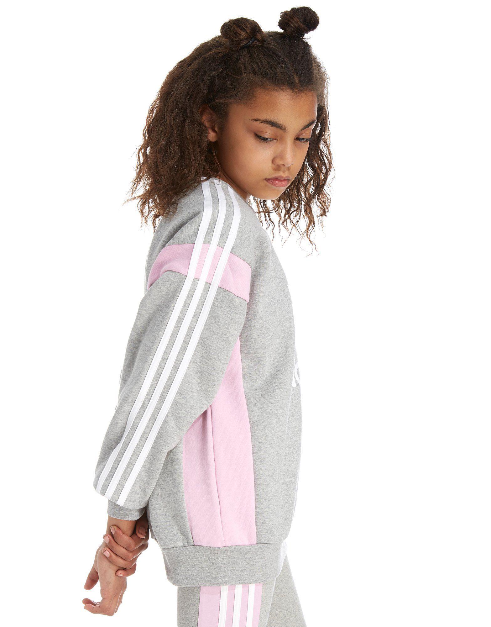 adidas Originals Girls' Boyfriend Fit Crew Sweatshirt Junior