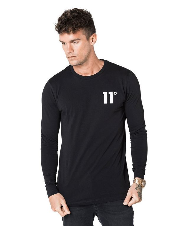11 Degrees camiseta de manga larga Core Small Logo