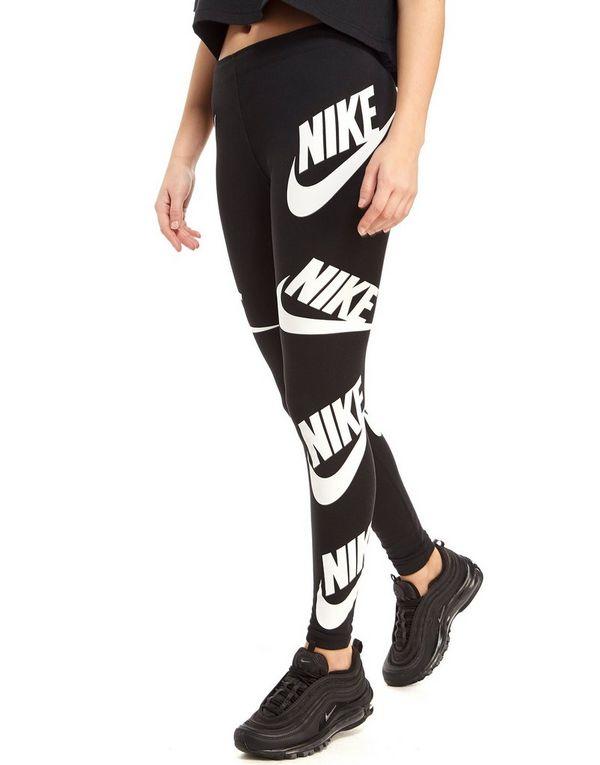 newest 9fbee 0abfd Nike All Over Print Futura Leggings