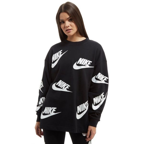 nike all over print futura crew sweatshirt jd sports. Black Bedroom Furniture Sets. Home Design Ideas