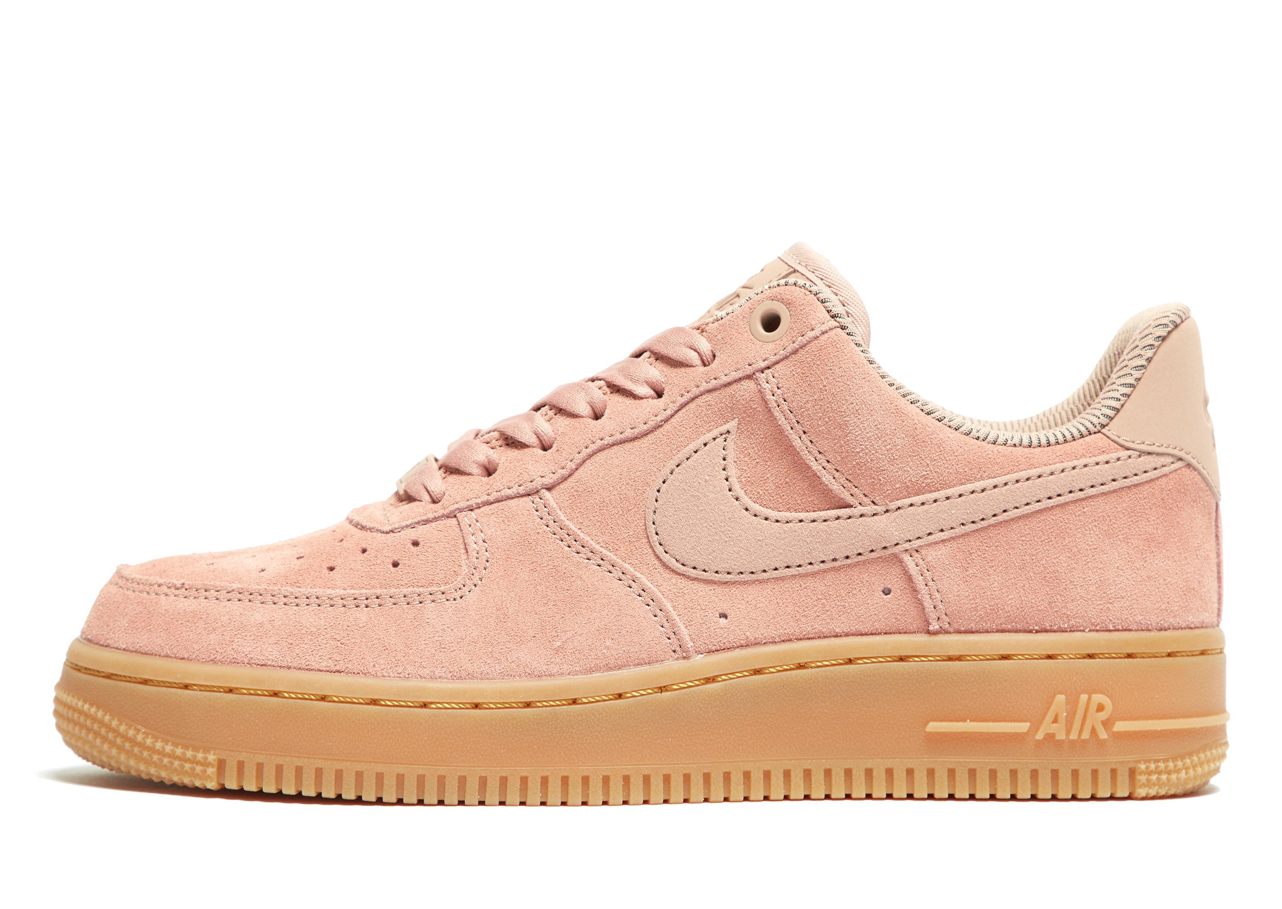 pink nike air force 1 junior