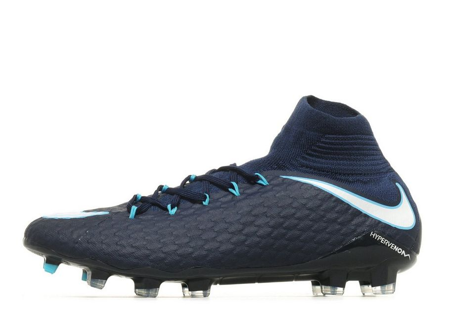Nike Fire and Ice Hypervenom Phatal FG - Men's Football Boots - Blue 294177
