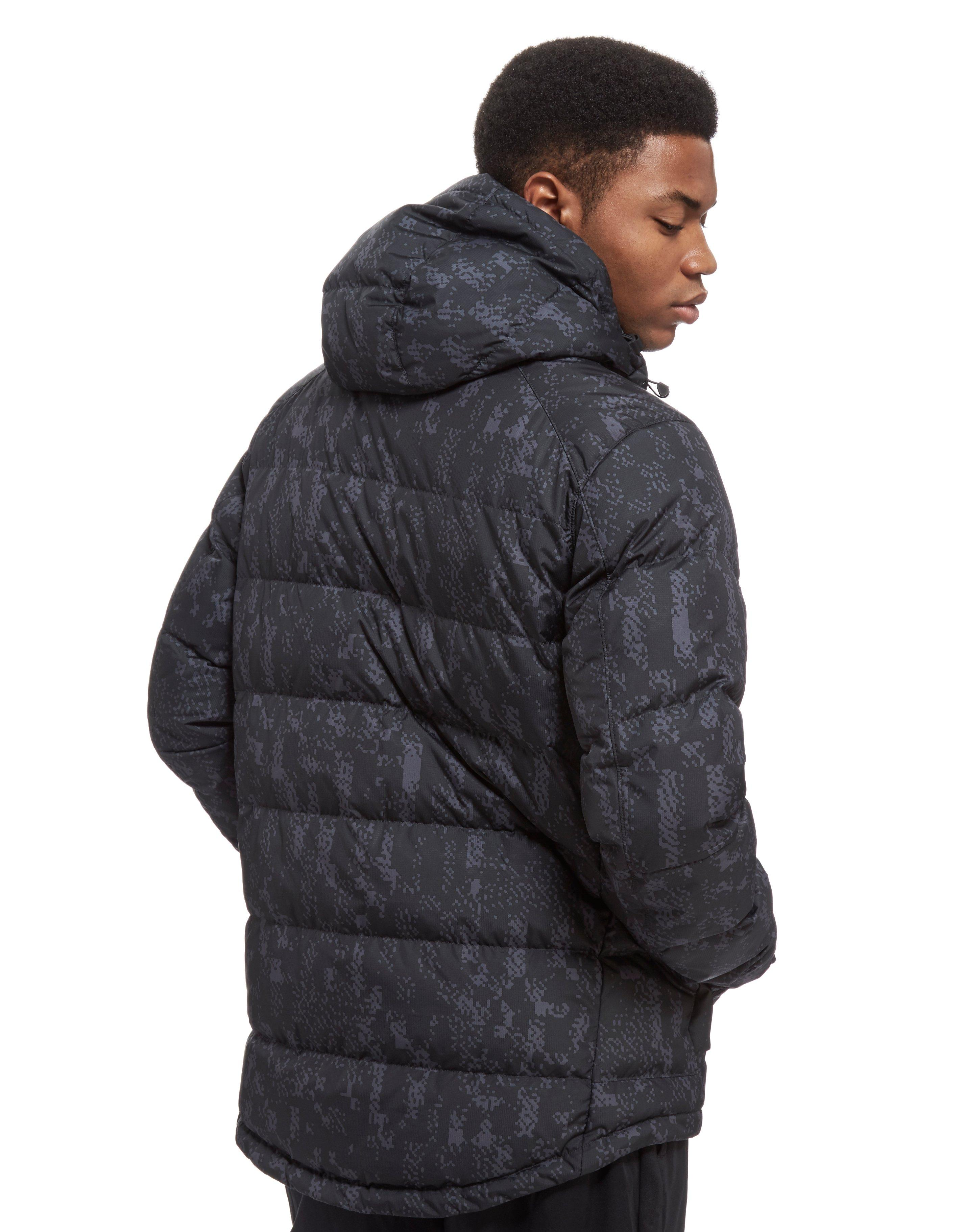 Down filled hooded coat