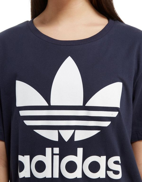 t-shirt adidas donna cropped trefoil